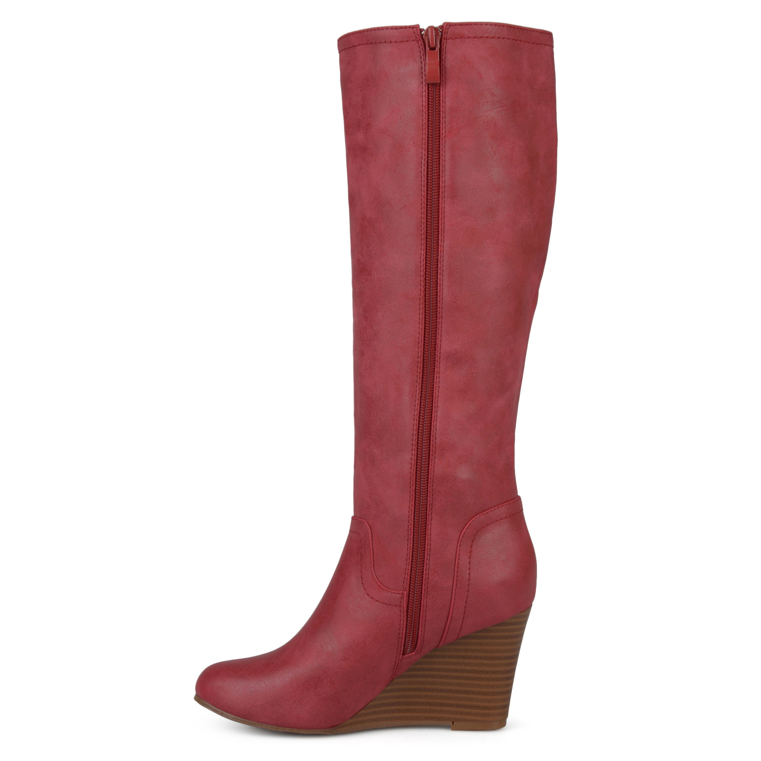 43ddb11355f Journee Collection Women s  Langly  Regular and Wide Calf Round Toe Mid-calf  Wedge Boots