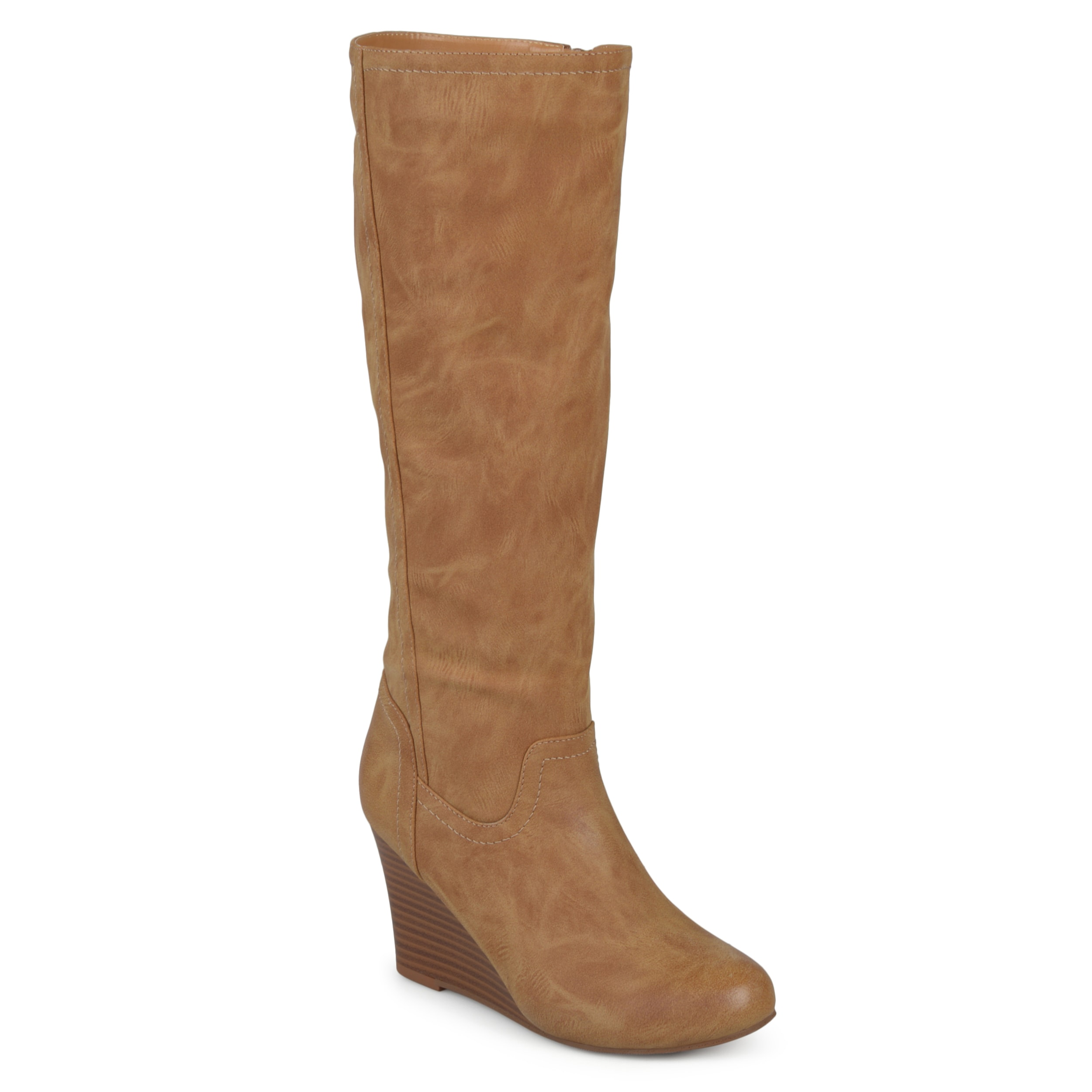 adf060d90 Journee Collection Women's 'Langly' Regular and Wide Calf Round Toe Mid-calf  Wedge Boots