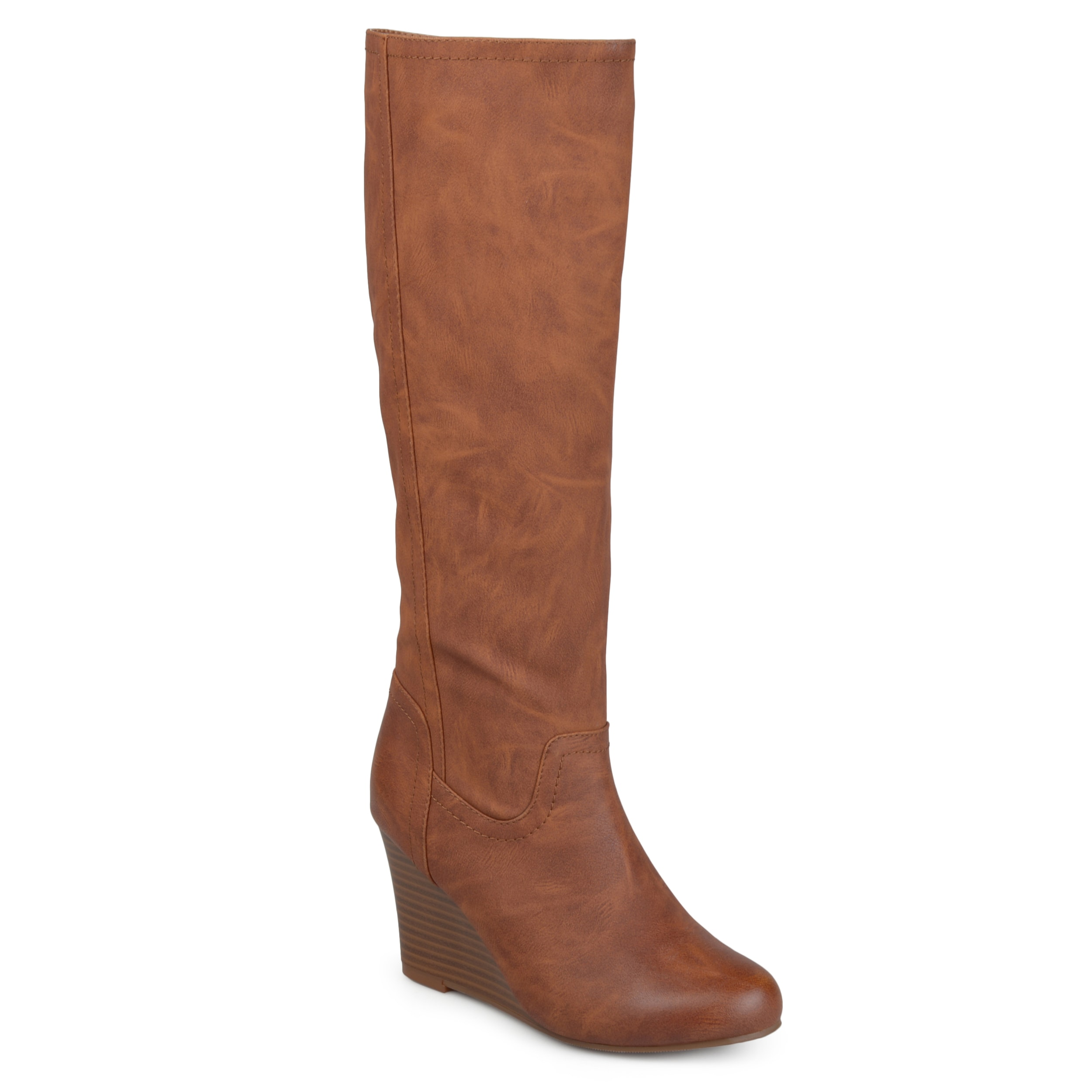 bd5766778668 Journee Collection Women's 'Langly' Regular and Wide Calf Round Toe Mid-calf  Wedge Boots
