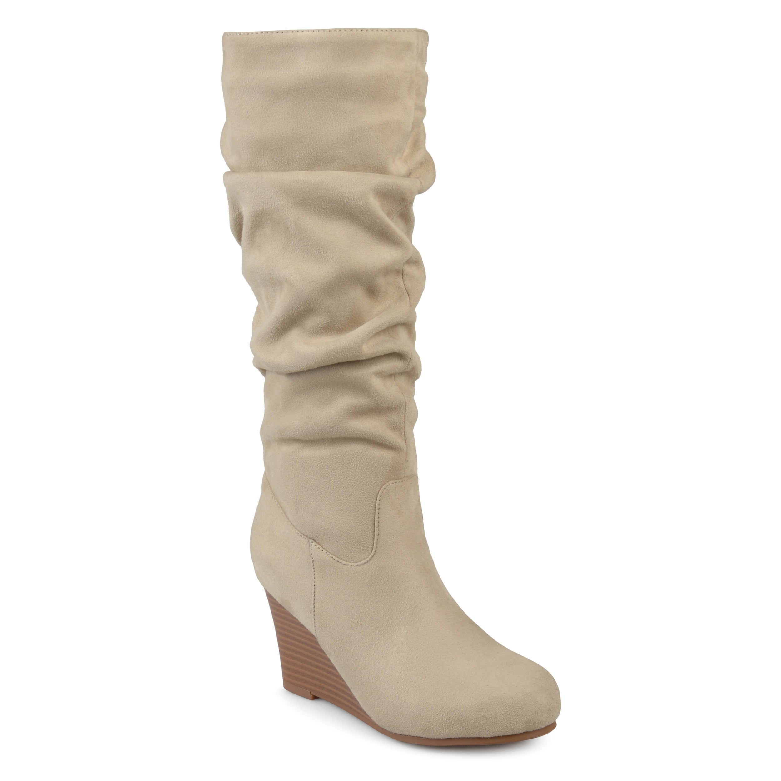 6b9ec13f691 Shop Journee Collection Women s  Haze  Regular and Wide Calf Slouchy Mid- calf Wedge Boots - On Sale - Free Shipping Today - Overstock - 17011776