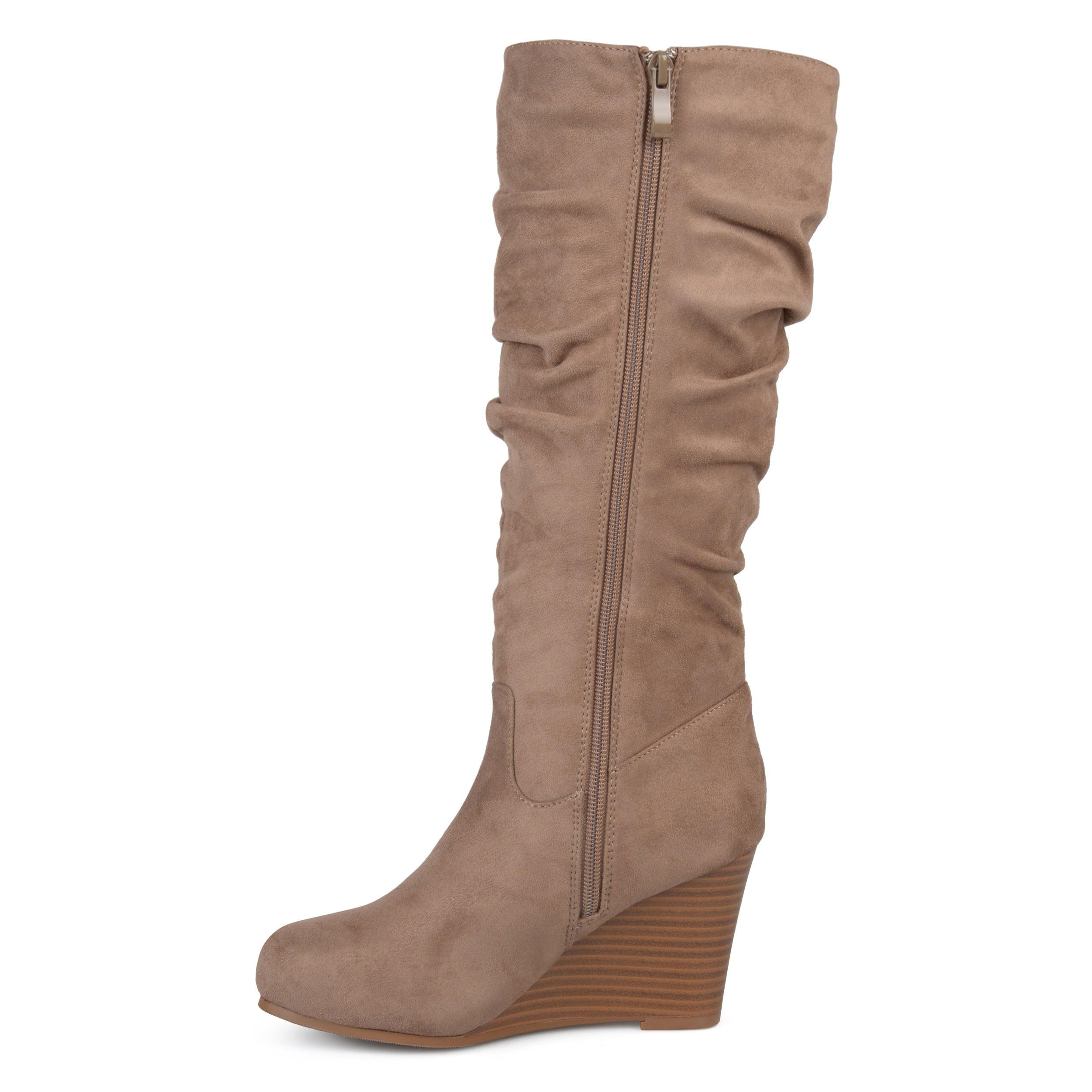 3bf863f1bfb Shop Journee Collection Women s  Haze  Regular and Wide Calf Slouchy Mid- calf Wedge Boots - On Sale - Free Shipping Today - Overstock - 17011776