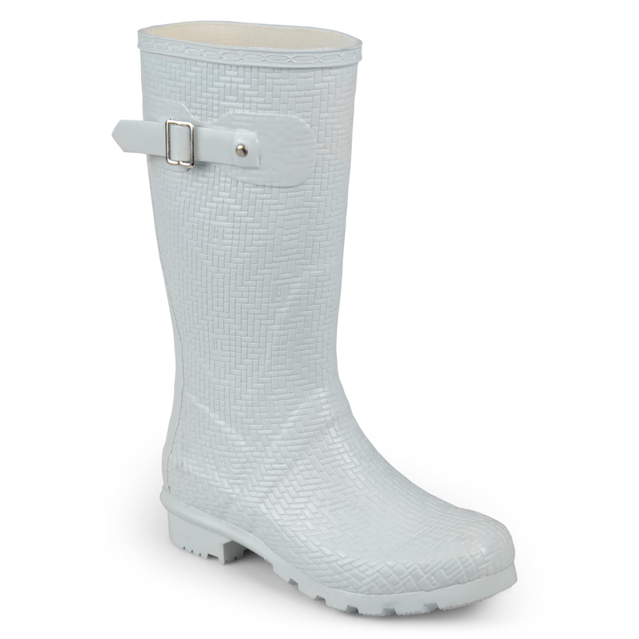 ccc97735176 Shop Journee Collection Women s  Drizl  Textured Rubber Basketweave  Mid-calf Rainboots - Free Shipping Today - Overstock - 17011784