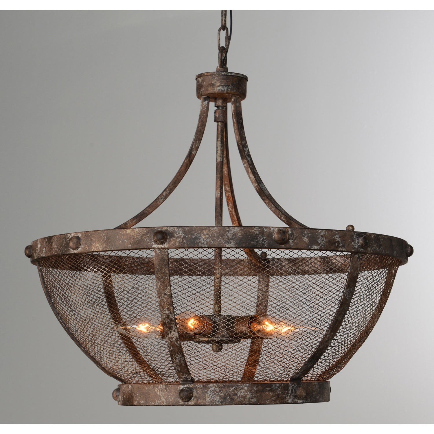 Charleston Antique Bronze 6-Light Iron Mesh Chandelier by Kosas Home - Free  Shipping Today - Overstock.com - 23294742