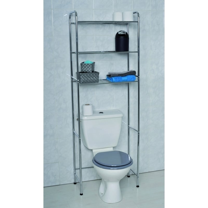Shop Evideco Bathroom Over the Toilet Space Saver Cabinet Metal 3 ...