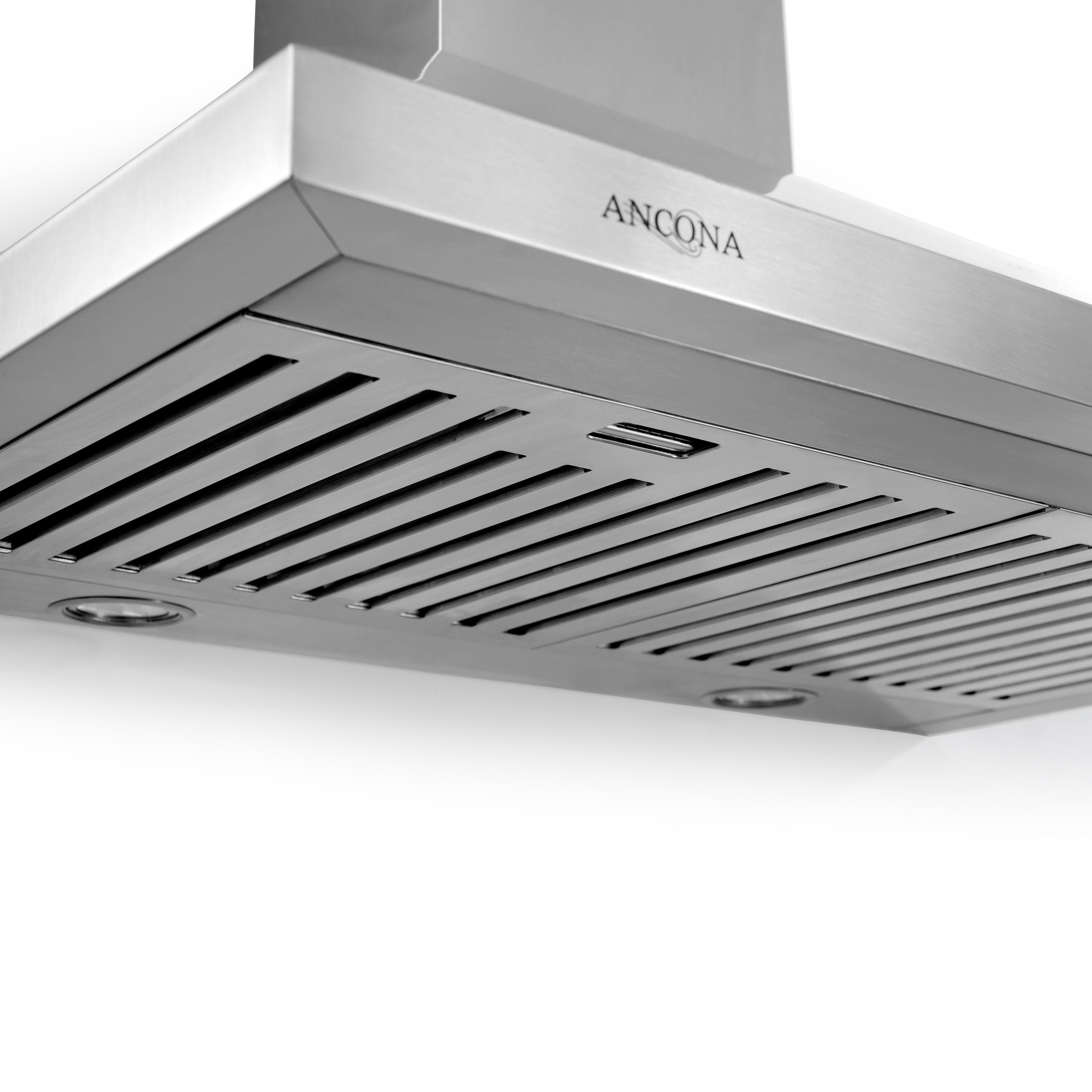 ancona rapido iv 30 in wall mounted convertible range hood free