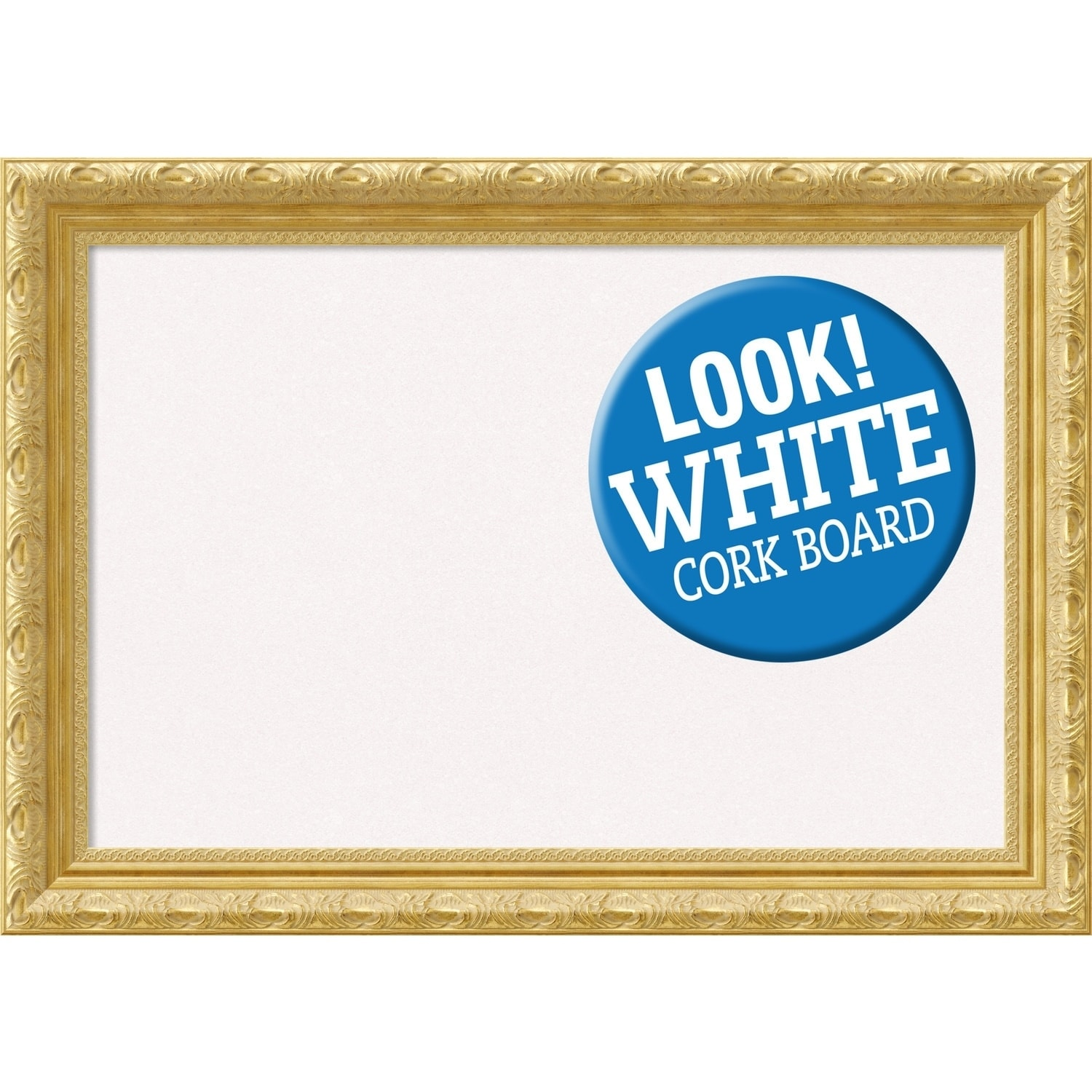 Shop Framed White Cork Board, Versailles Gold - Free Shipping Today ...