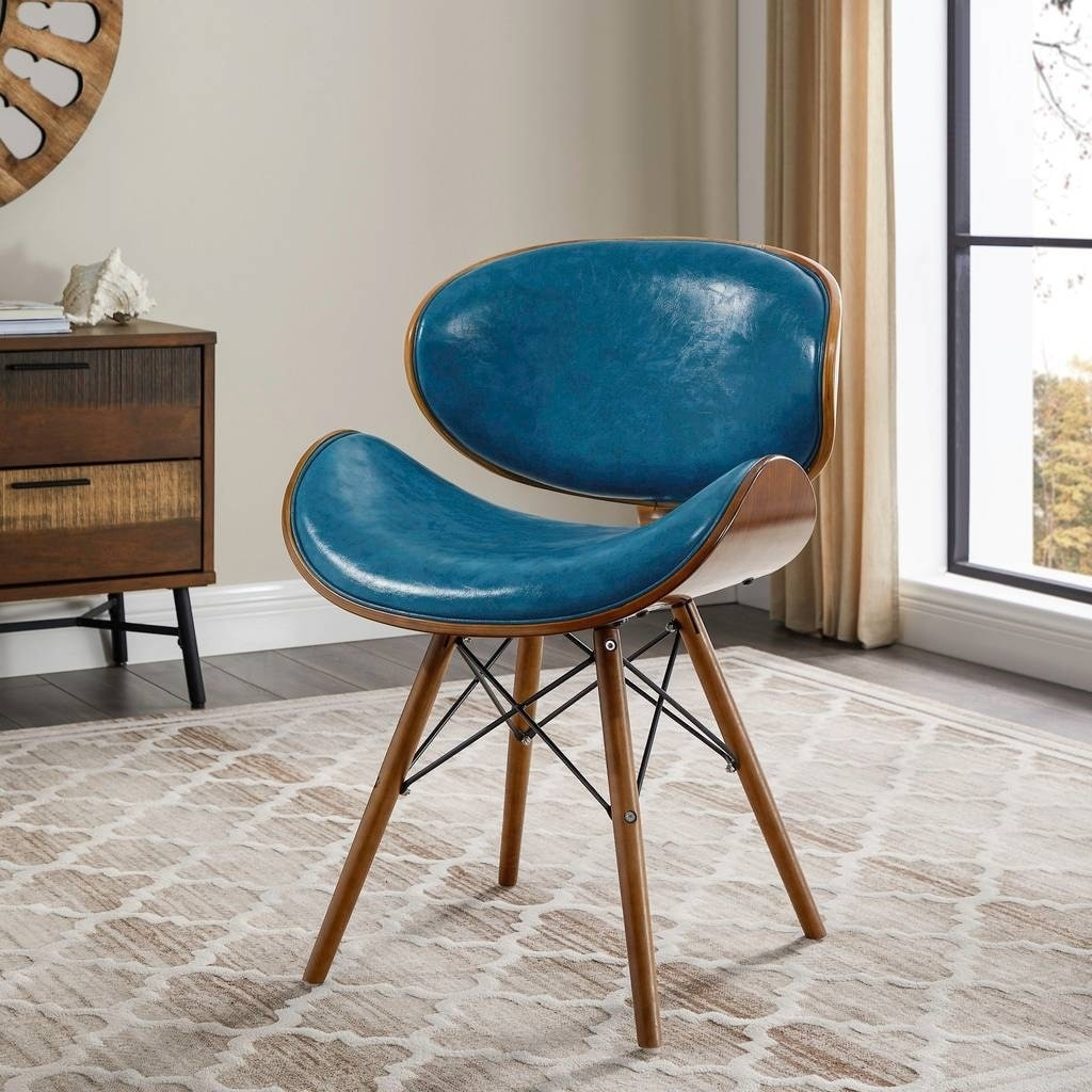 Shop Corvus Madonna Mid-century Teal Accent Chair - Free Shipping ...