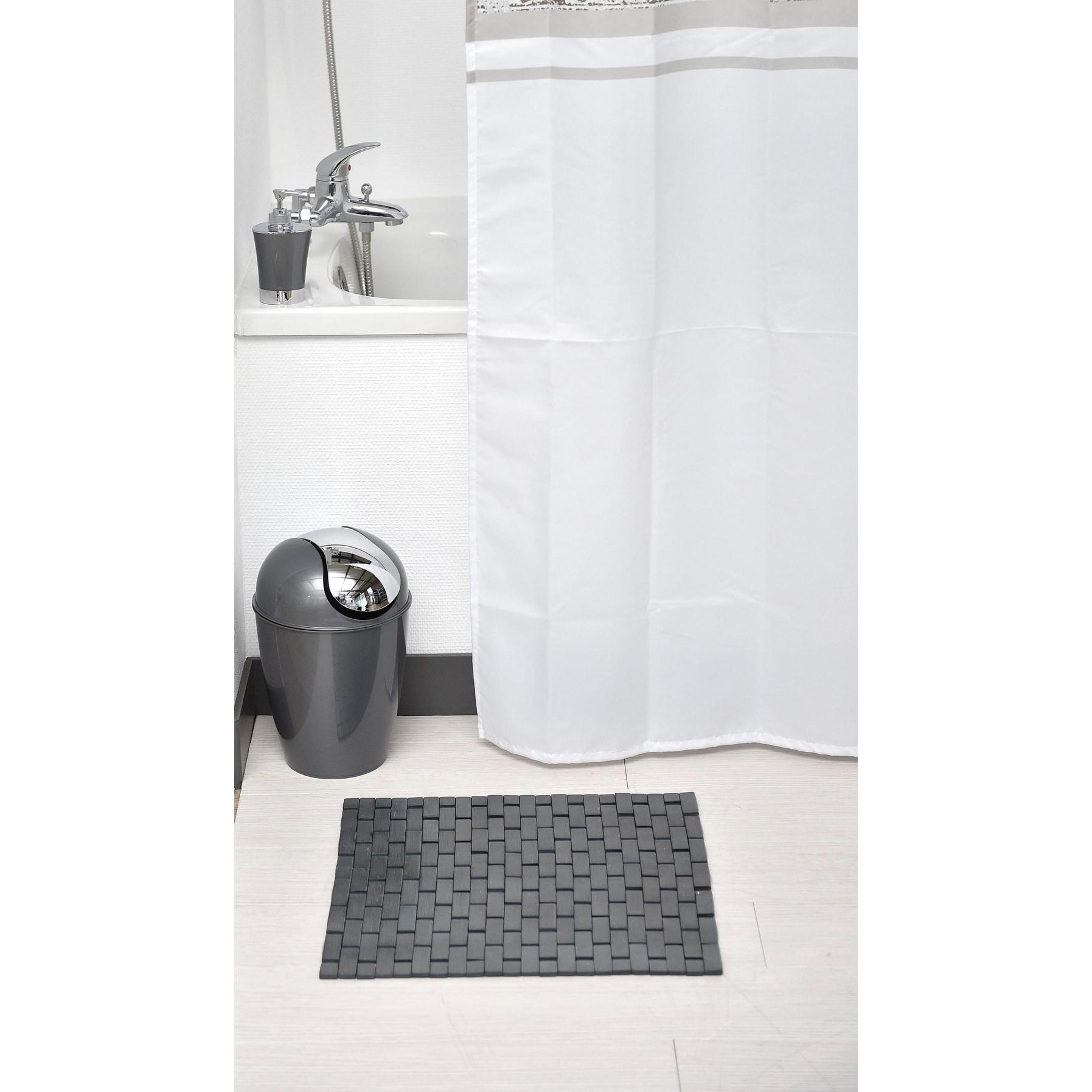 Shop Evideco Bamboo Slats Roll Up Foldable Shower Door Bath Mat