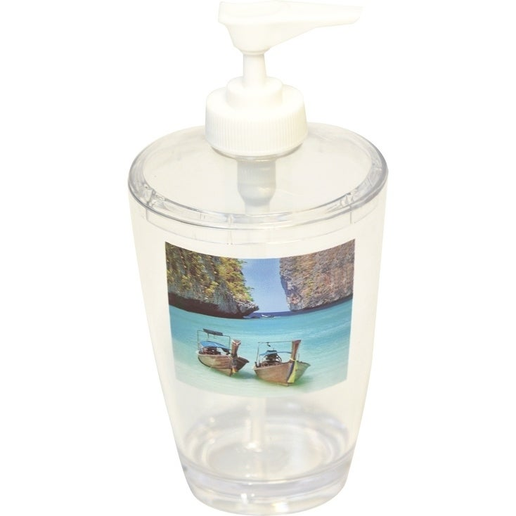 Evideco Clear Acrylic Soap Dispenser Lotion Pump Design Paradise   Free  Shipping On Orders Over $45   Overstock   23304612