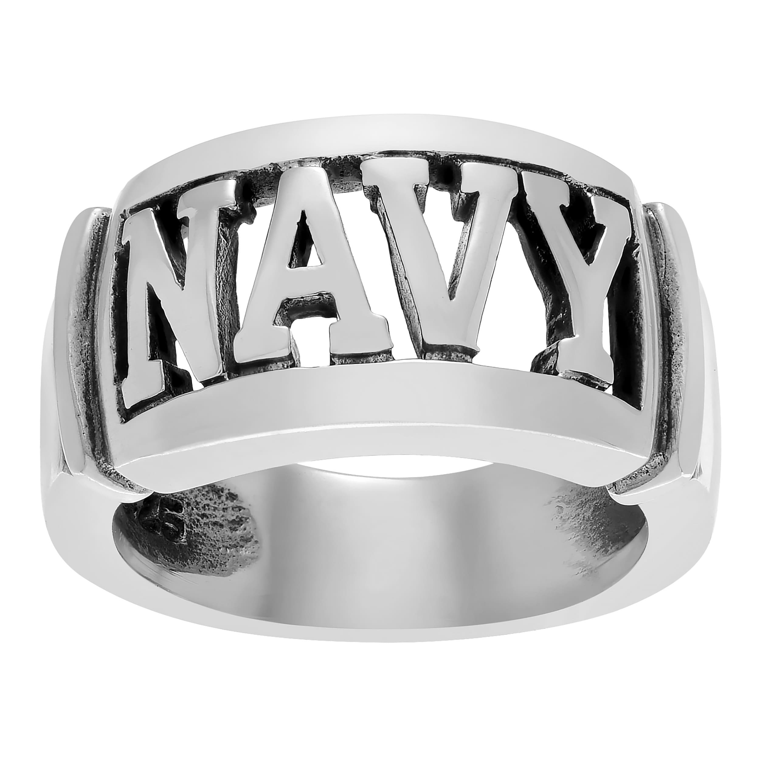 shop journee sterling silver large armed forces ring free shipping