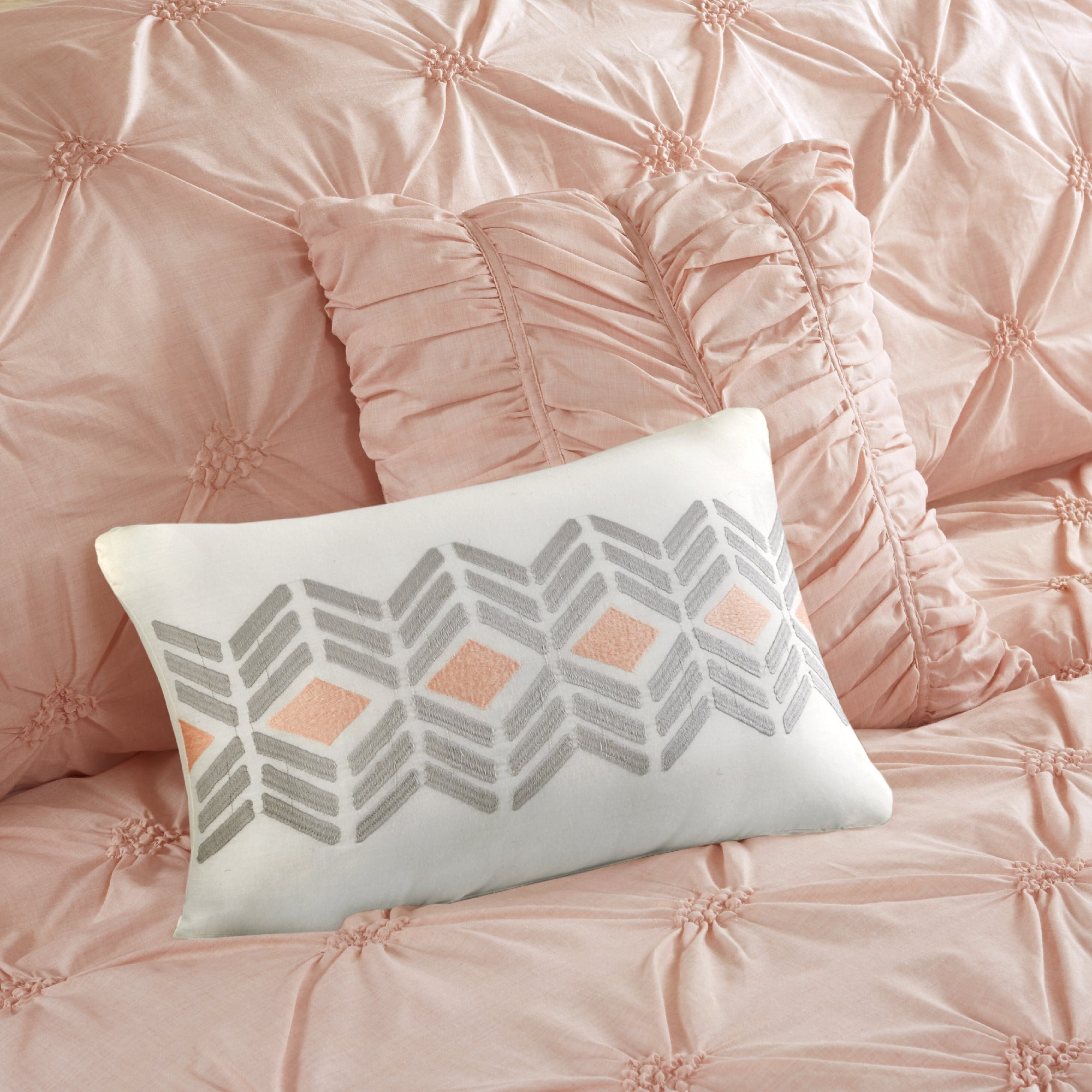 pink and mocha reversible alternative down mochadusty size king comforter rich dusty product
