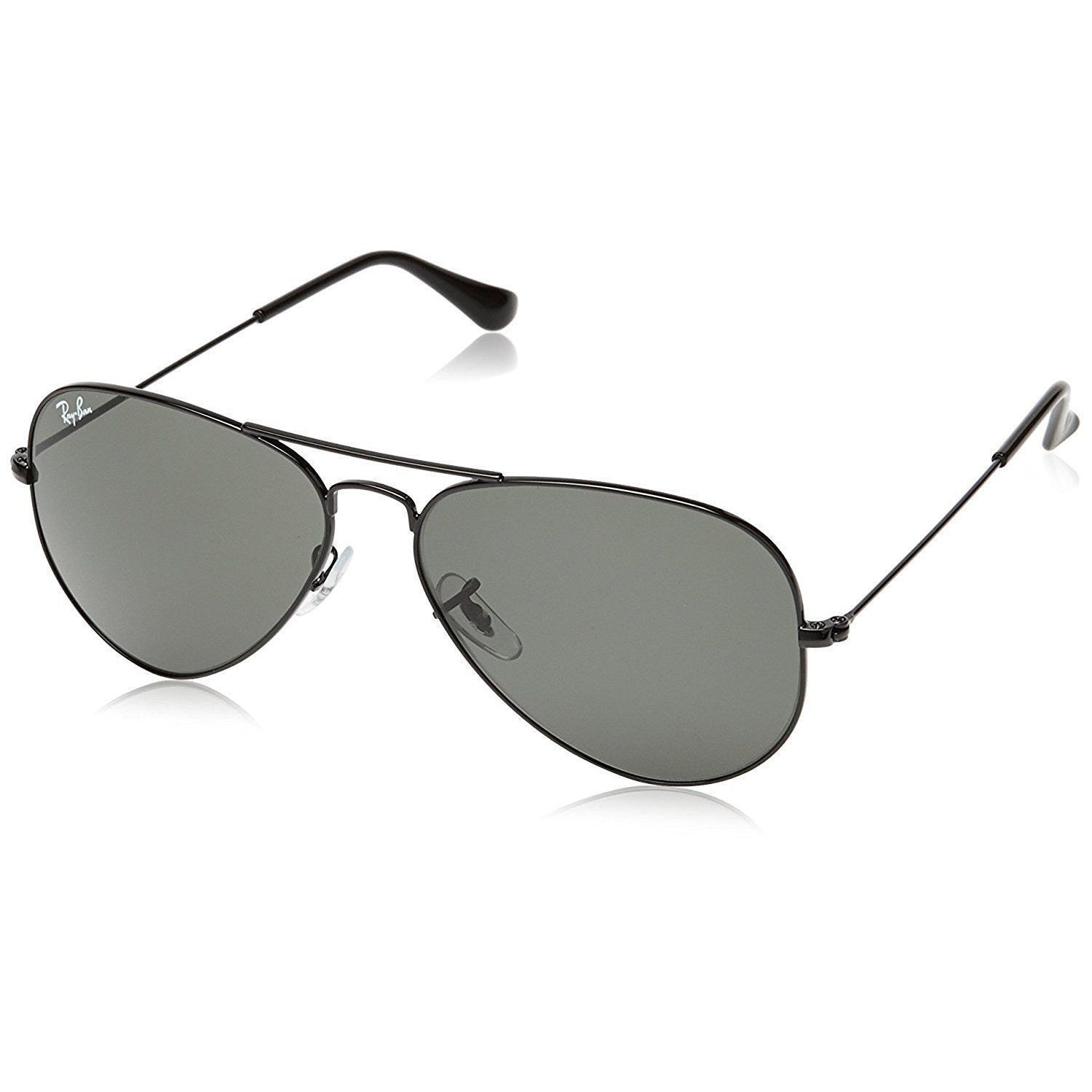 3aa8b40d124 Shop Ray Ban Aviator RB3025 L2823 58-14 Unisex Black Frame Green Classic  G15 Lens Sunglasses - Ships To Canada - Overstock.ca - 17031557