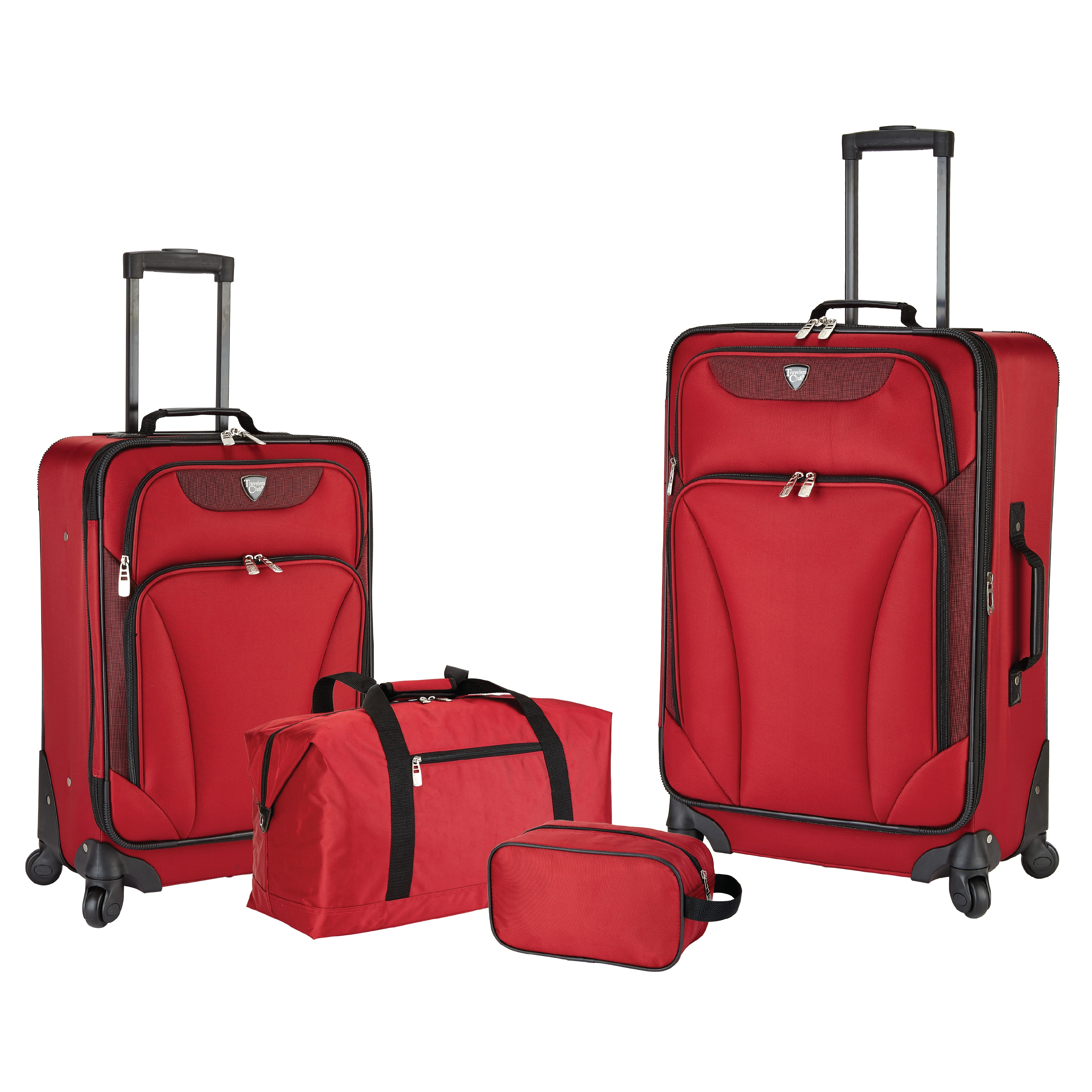 Travelers Club Augusta 4-Piece Expandable Spinner Luggage Set - Free ...