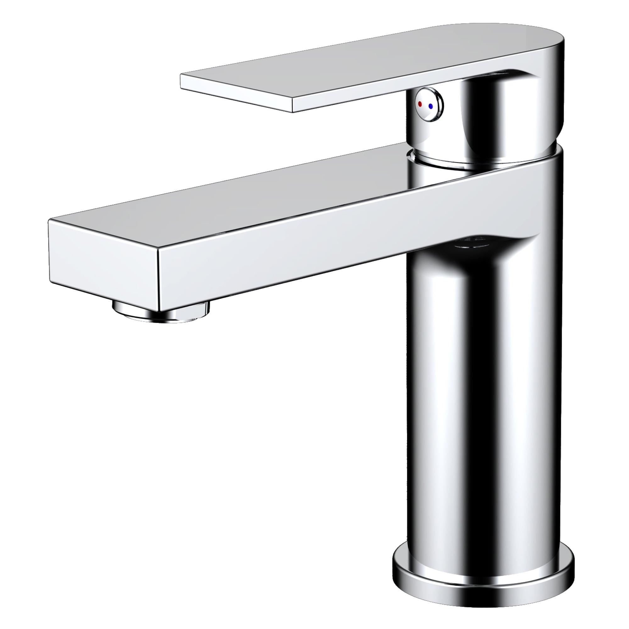 EVIVA Pure Single Handle Bathroom Sink Faucet (Chrome) - Free ...