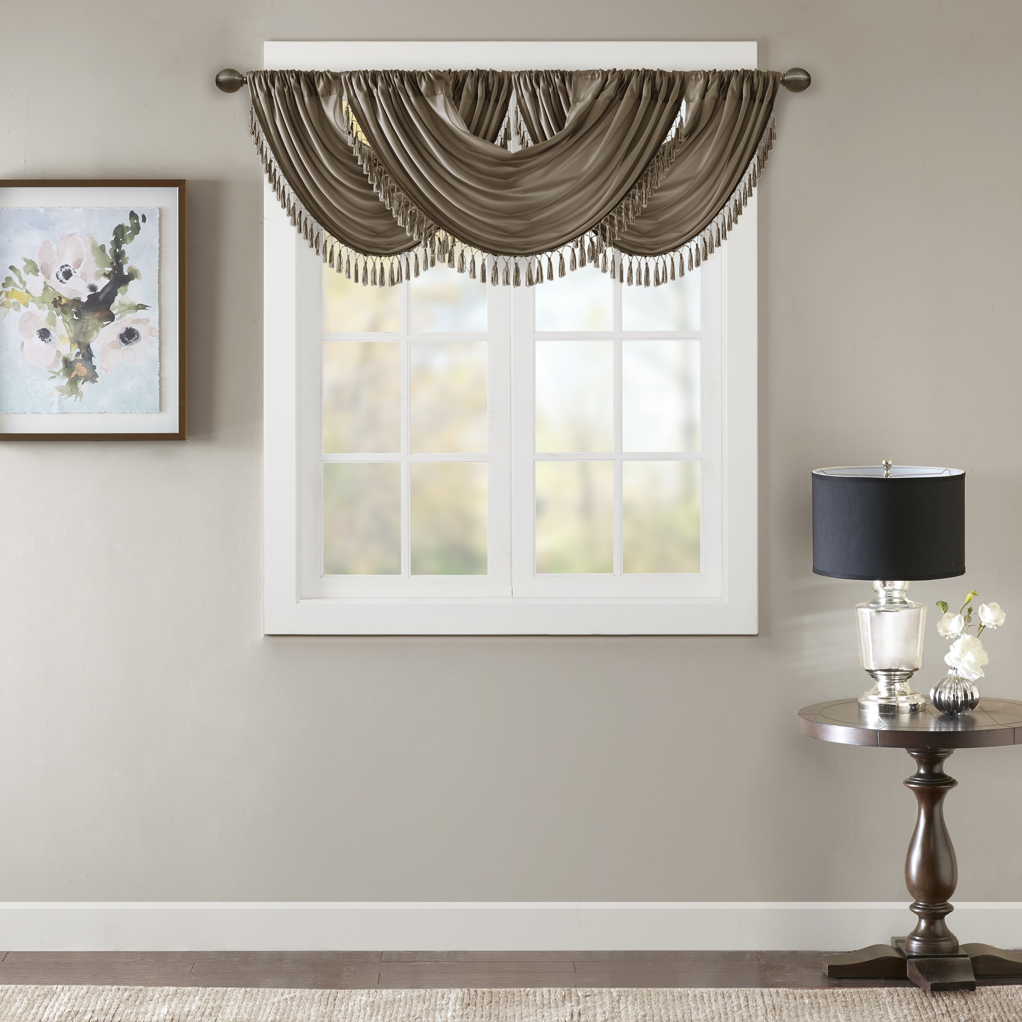 hudson com ip lined embroidered valance cording walmart valances with