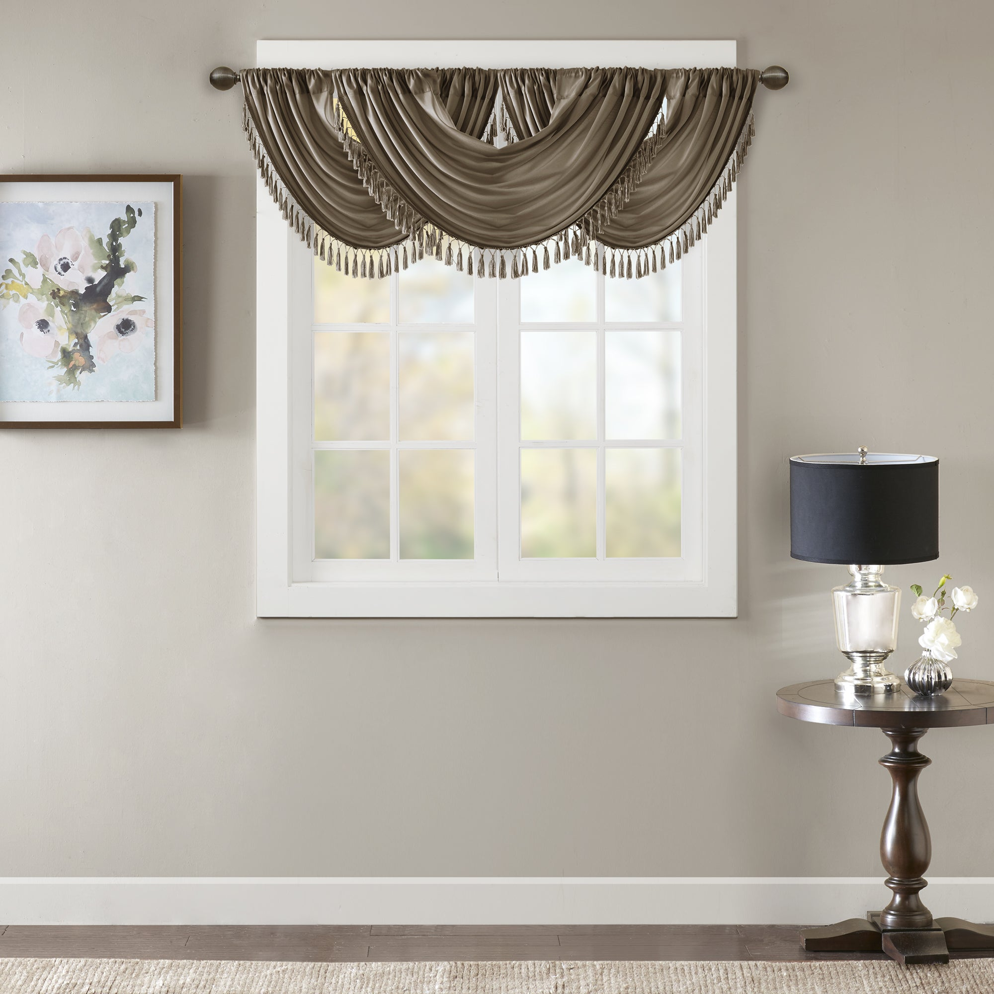 ideas valances railing lined for curtains stairs kitchen window and swag waverly within design curtain valance