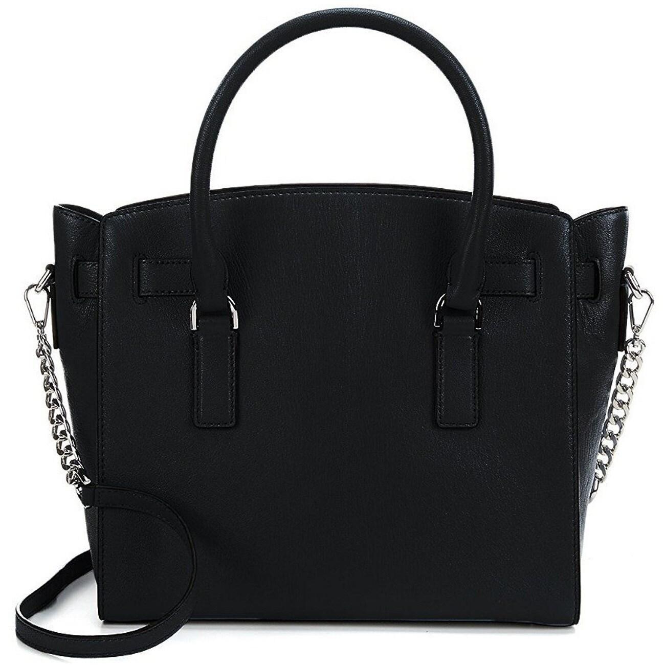 160fbc52ce7f Shop Michael Kors Hamilton Large East West Black Satchel Handbag - Free  Shipping Today - Overstock - 17037414