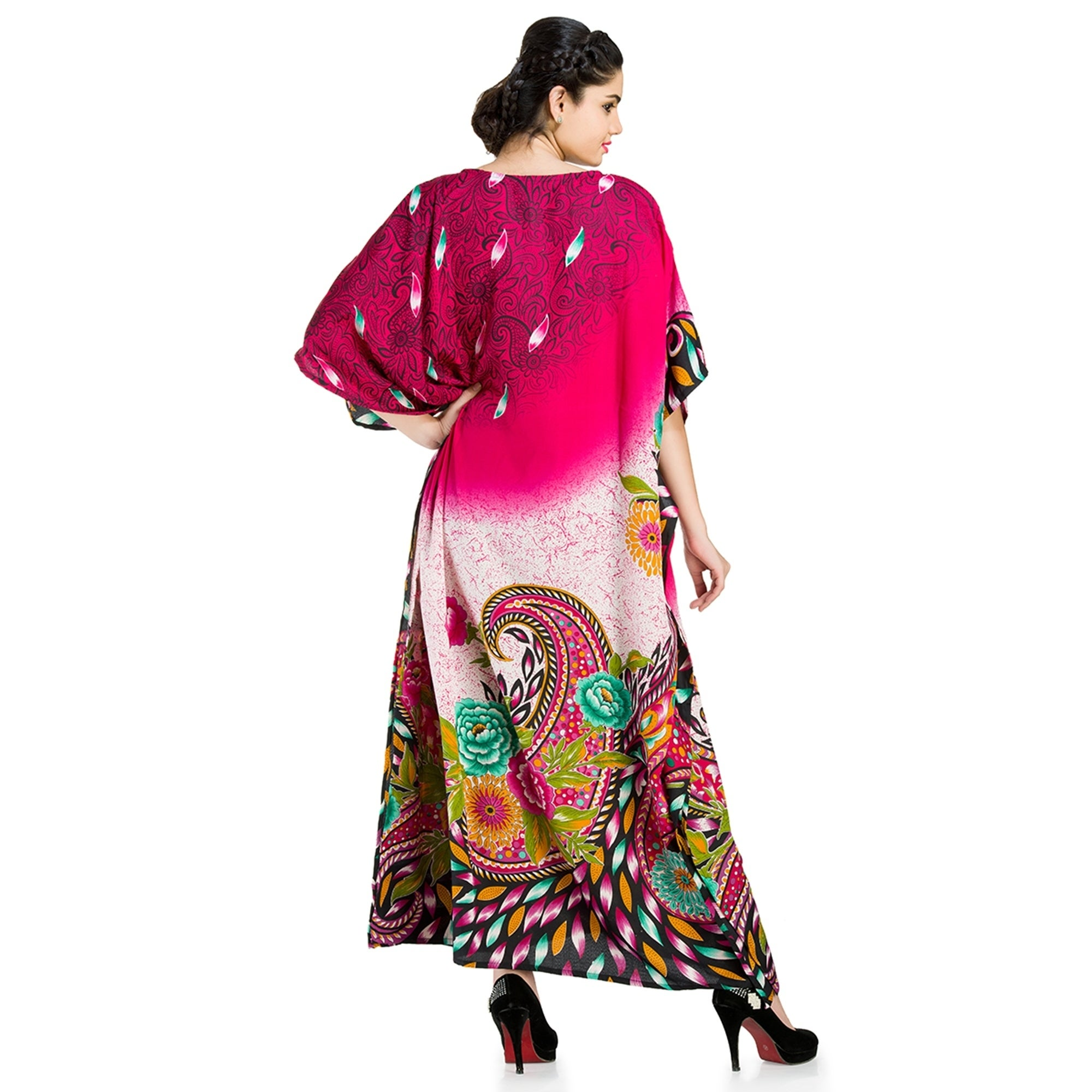 1b82edf5d8e Shop Goood Times Caftan Dress Long Maxi Plus Size Boho Kaftan Cover up -  Free Shipping Today - Overstock - 17037607