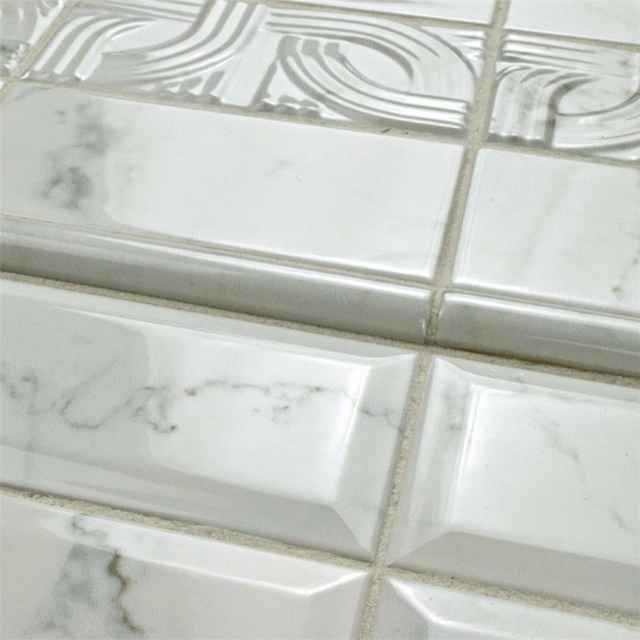 Somertile 3x6 inch carra carrara glossy metro ceramic wall tile 88 somertile 3x6 inch carra carrara glossy metro ceramic wall tile 88 tiles1241 sqft free shipping today overstock 23315254 ppazfo