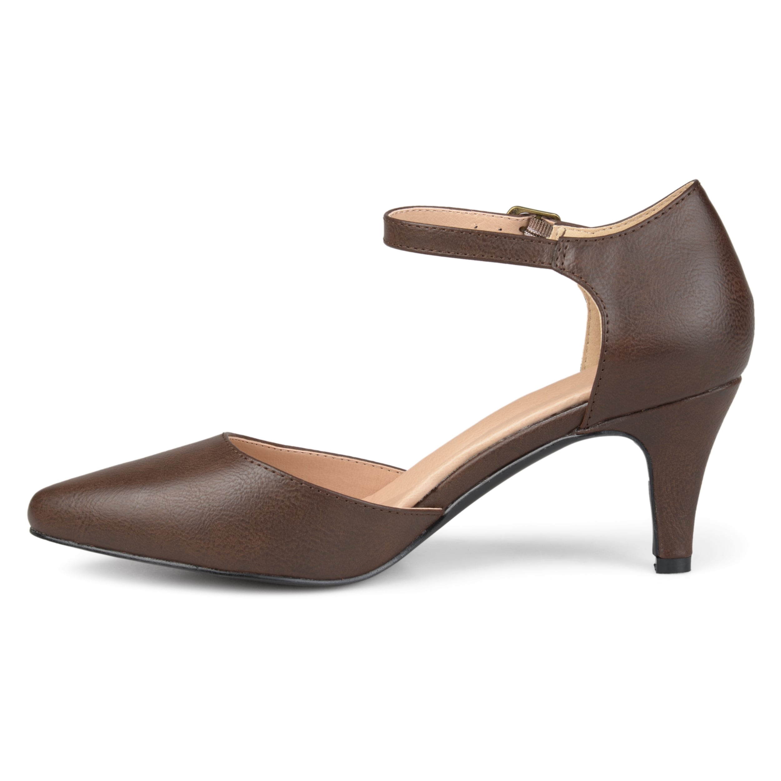 9cd96cb35ee77 Shop Journee Collection Women's 'Bettie' Comfort Sole Almond Toe Ankle  Strap Heels - Free Shipping On Orders Over $45 - Overstock - 17037993