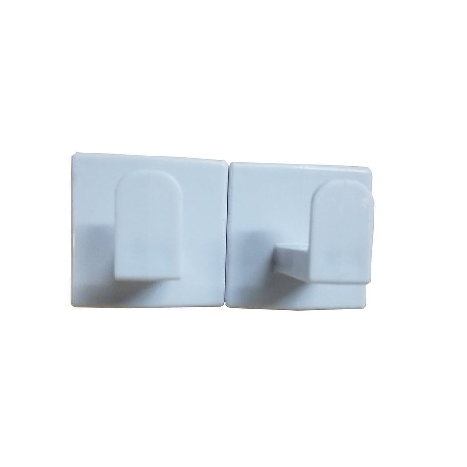 Shop Evideco Bath Shower Hook Sali Adhesive or Wall Mount Set of 2 ...