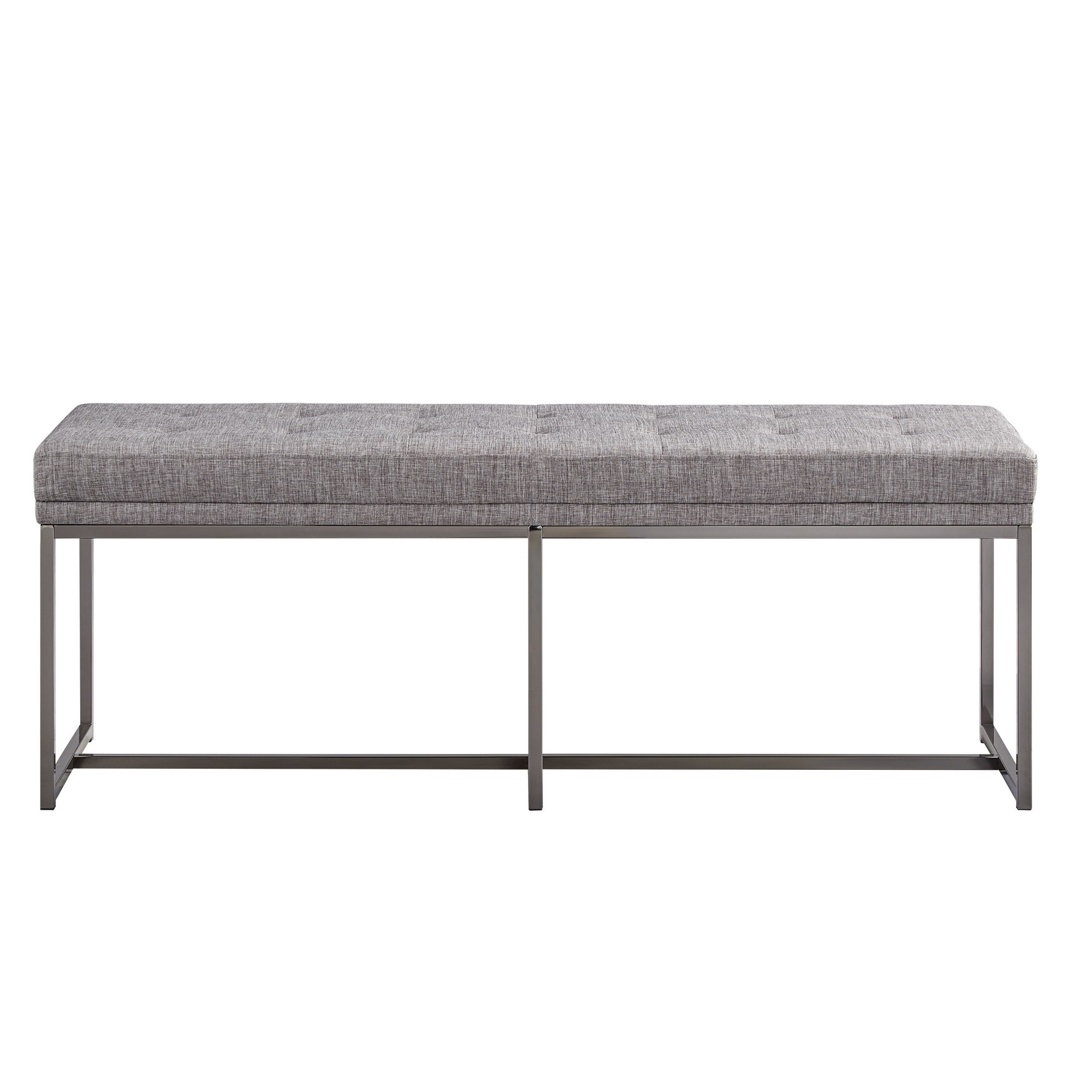 Bryn Black Nickel Base Bench by iNSPIRE Q Bold - Free Shipping Today -  Overstock.com - 23317487