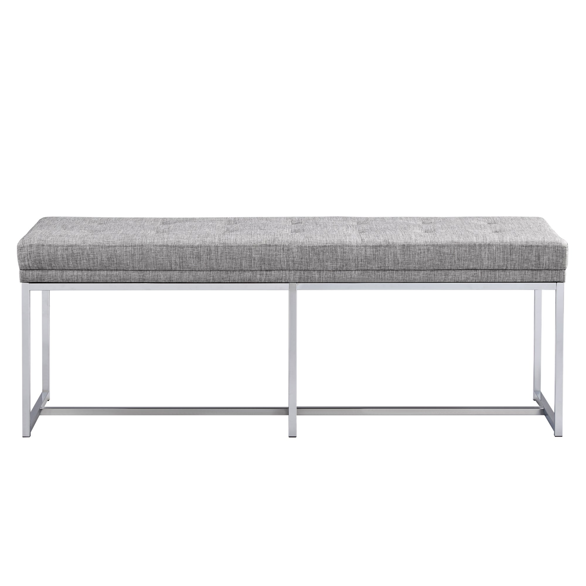 Bryn Chrome Base Bench by iNSPIRE Q Bold - Free Shipping Today -  Overstock.com - 23317488