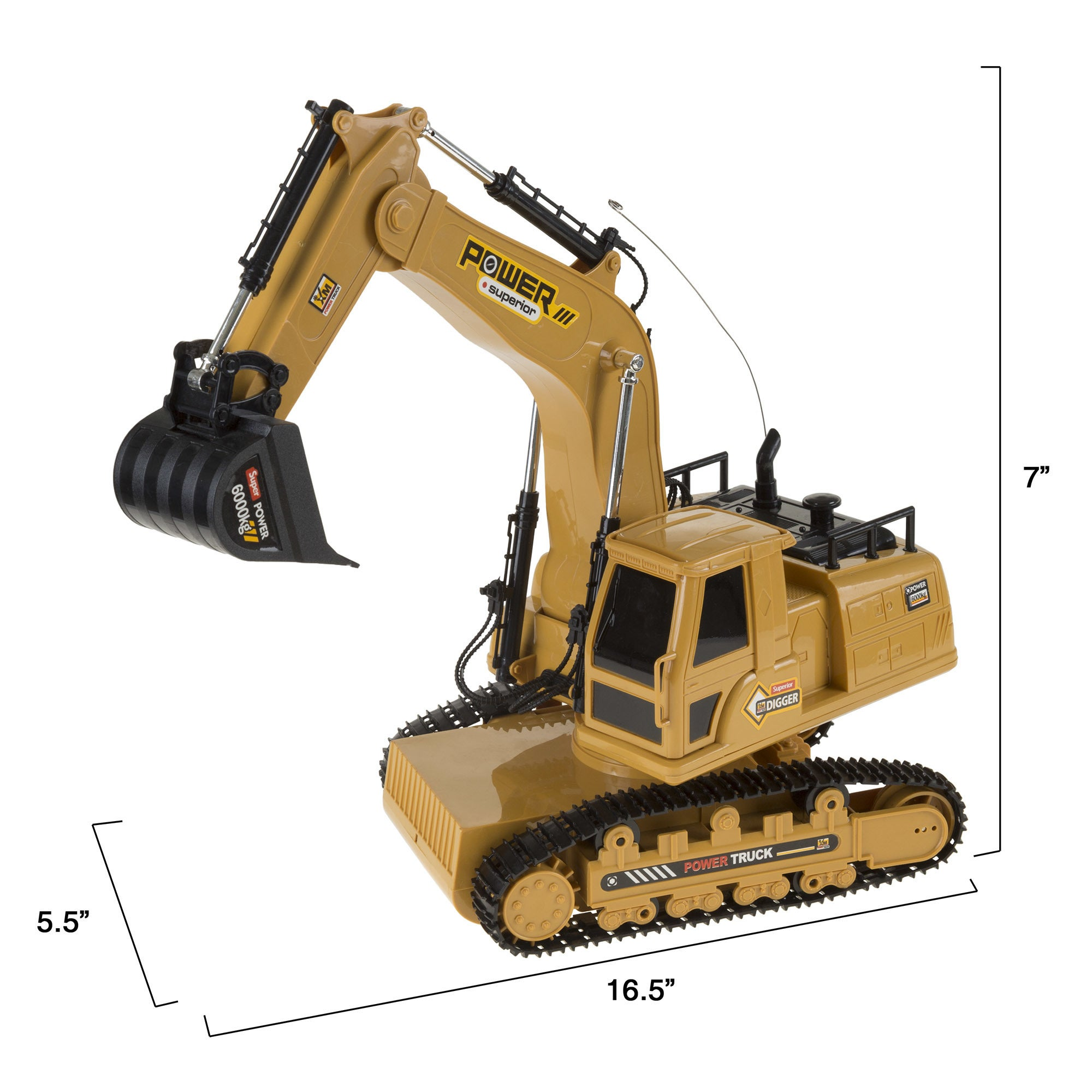 Shop Hey Play Remote Control Tractor Excavator Construction Toy