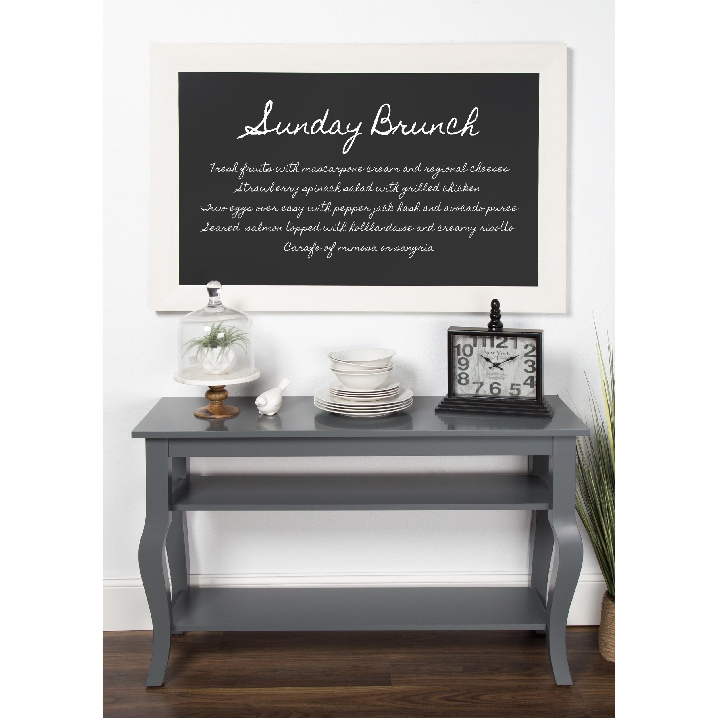DesignOvation Beatrice Framed Magnetic Chalkboard, 29.5x45.5 - Free ...