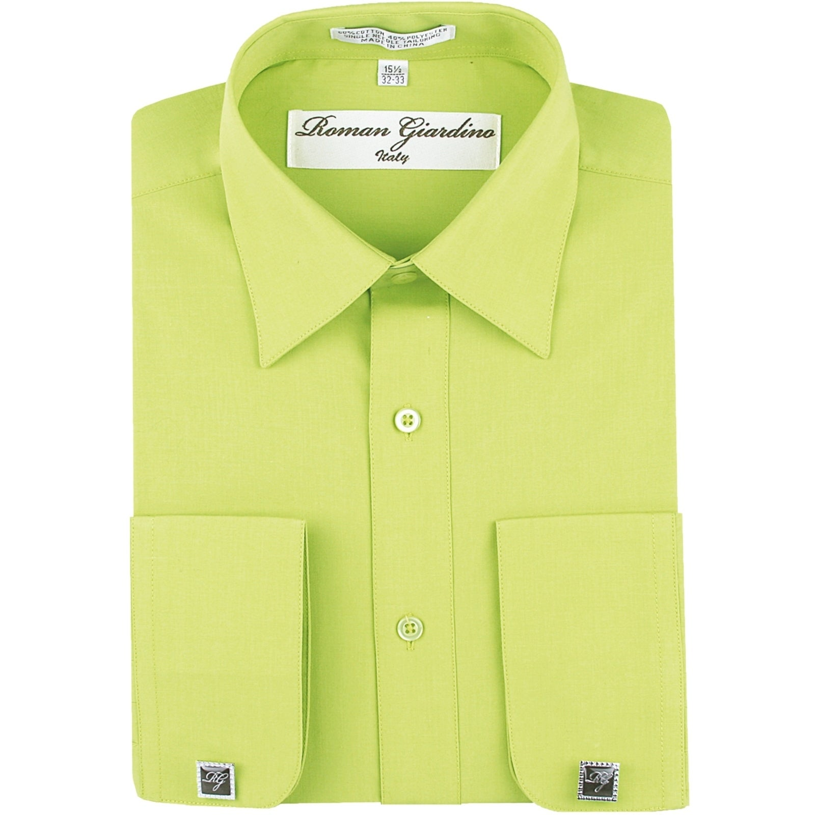 Shop Roman Giardino Mens Dress Shirt Wrinkle Free Convertible Cuff