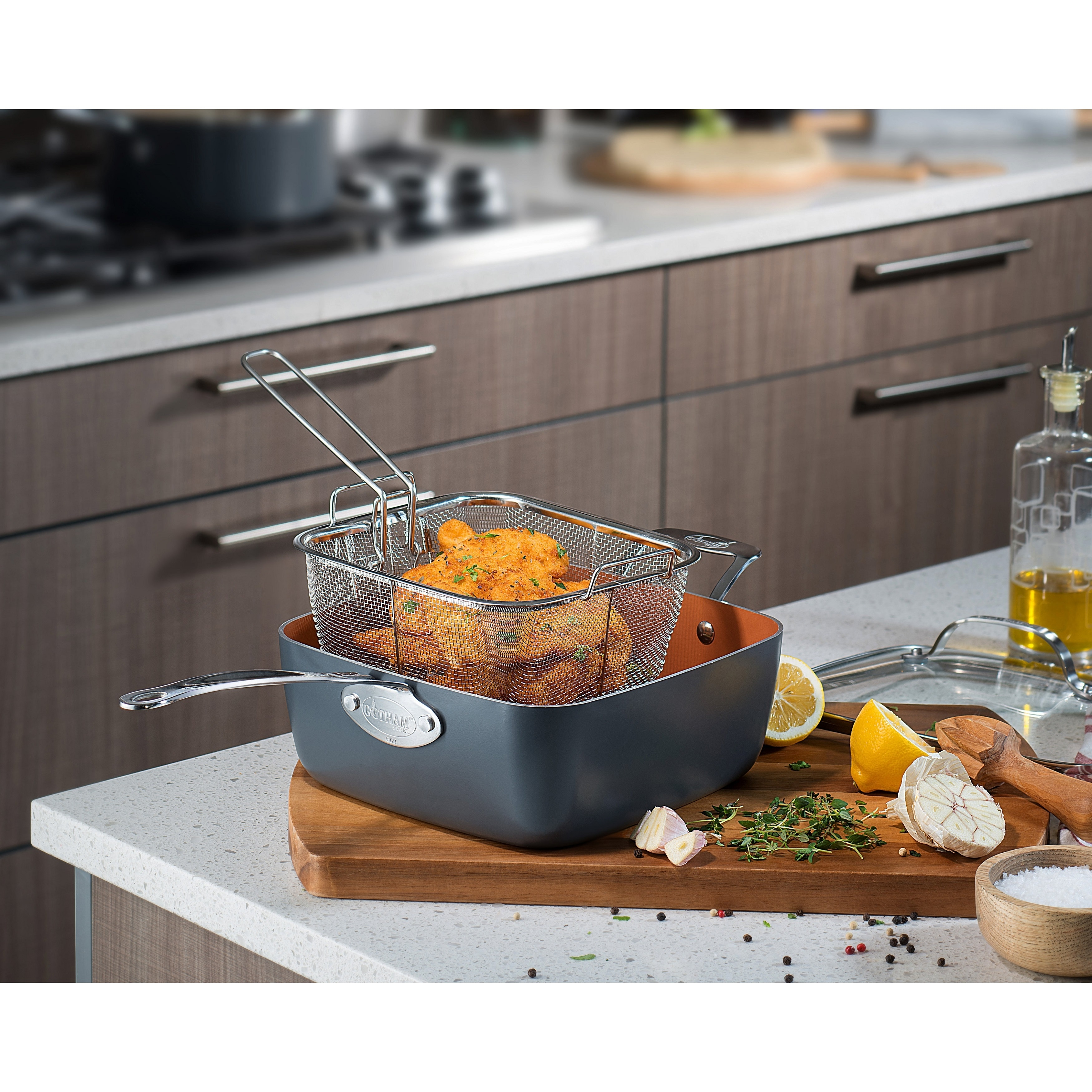 Gotham Steel Ultimate 15-Piece All-in-One Copper Cookware Set (Non-Stick  Ti-Cerama Coating) - Free Shipping Today - Overstock.com - 23351141