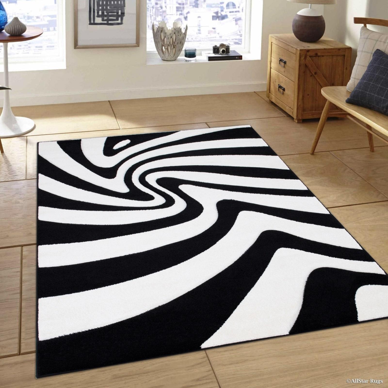Shop Allstar Black White Geometric Colorblock Design