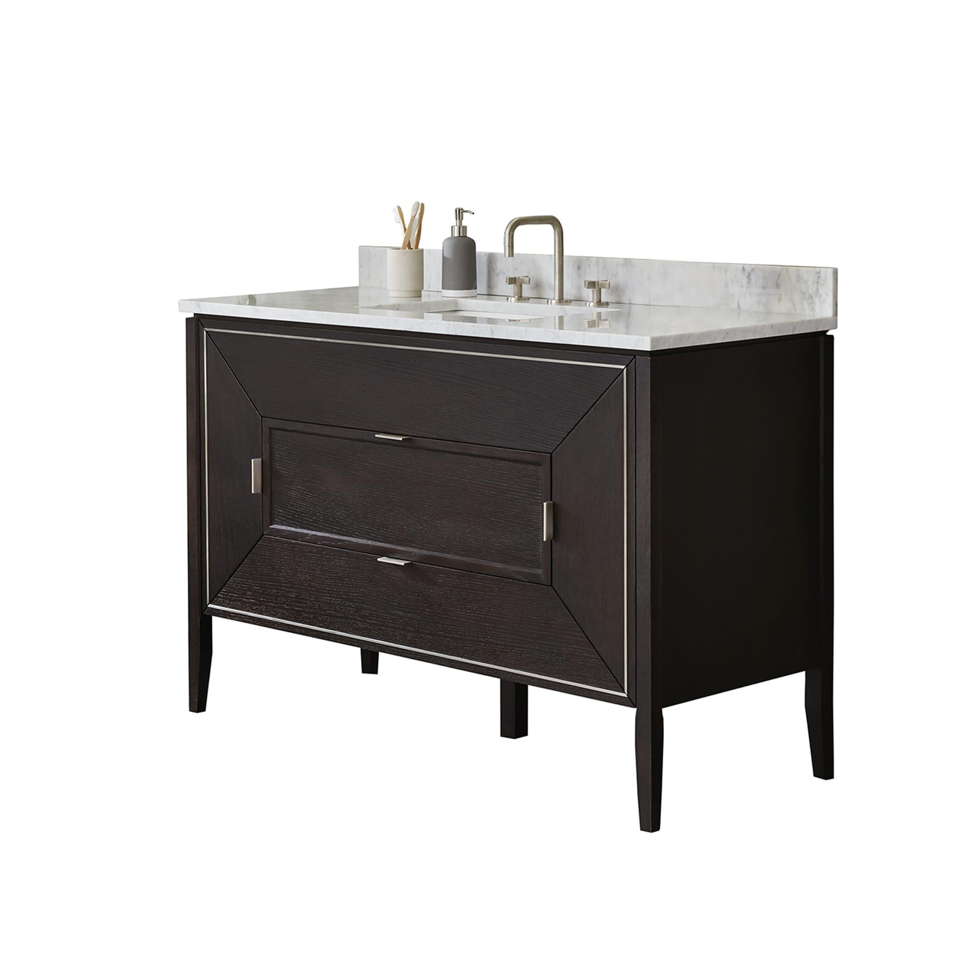 Ronbow 48 Amora Bathroom Vanity Cabinet Base In Oak Toscana Free Shipping Today 17096101