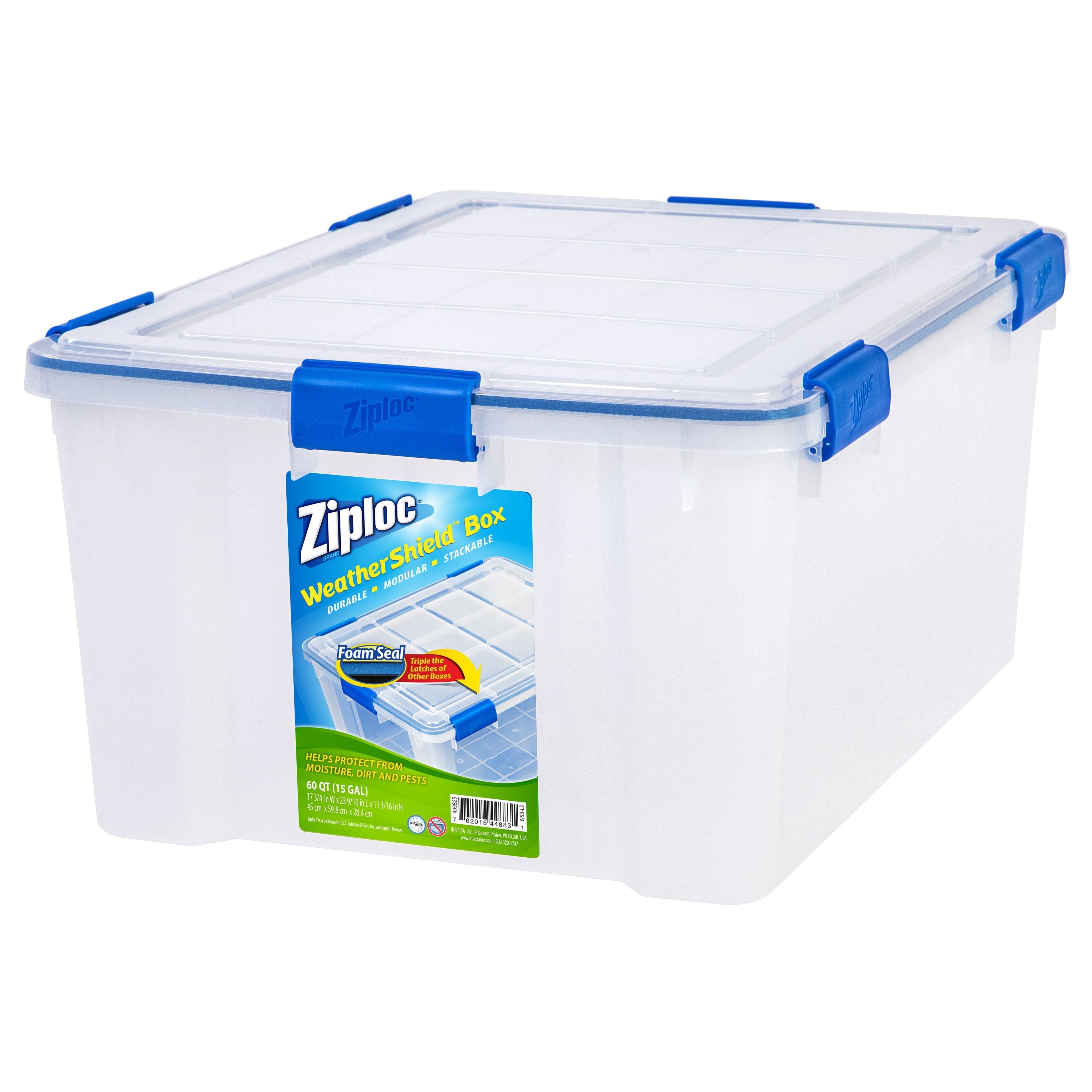 Beau Shop Ziploc WeatherShield 60 Qt. Plastic Storage Bin (Pack Of 4)   Free  Shipping Today   Overstock.com   17097267