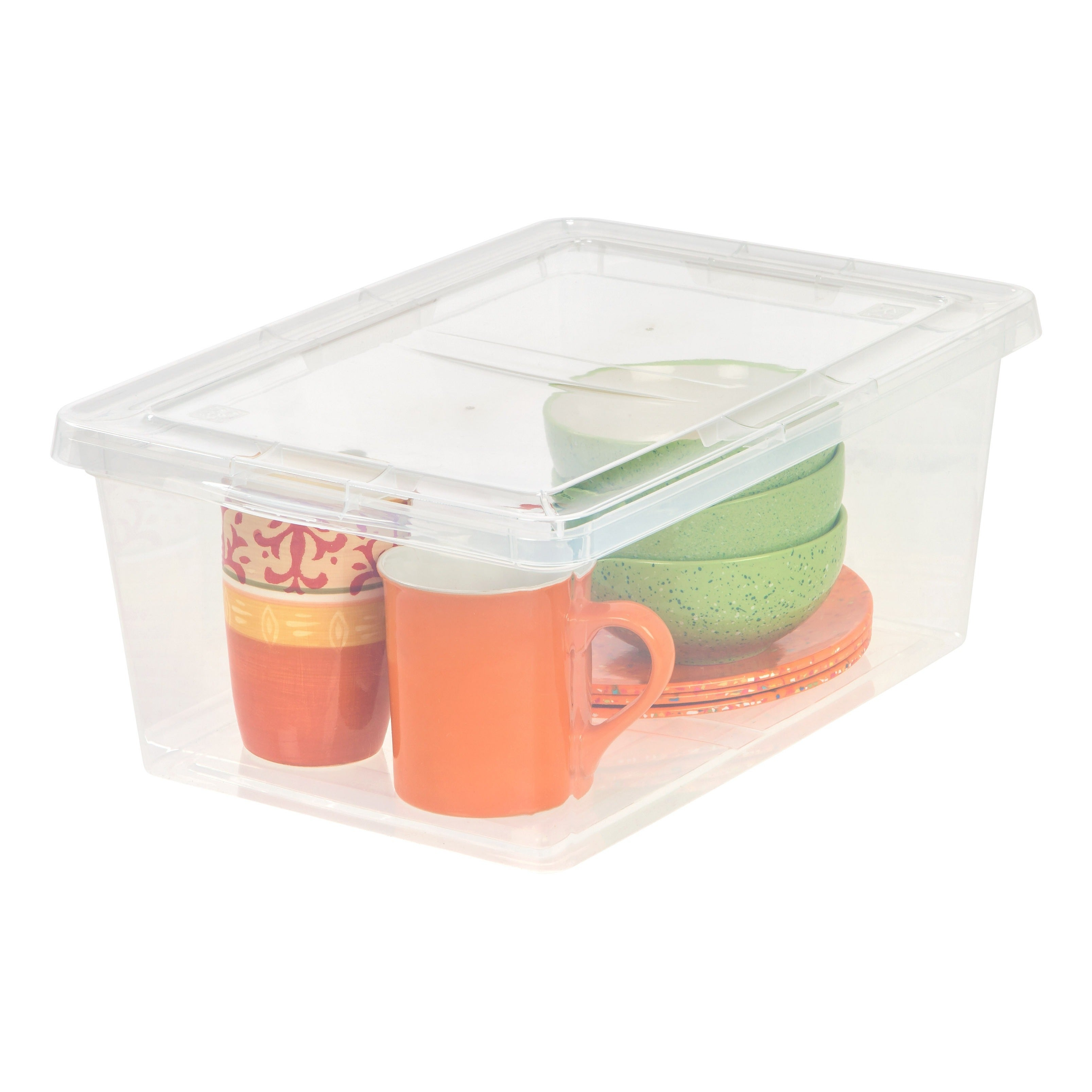Shop IRIS 17 qt. Clear Plastic Storage Bin (Case of 12) - Free ...