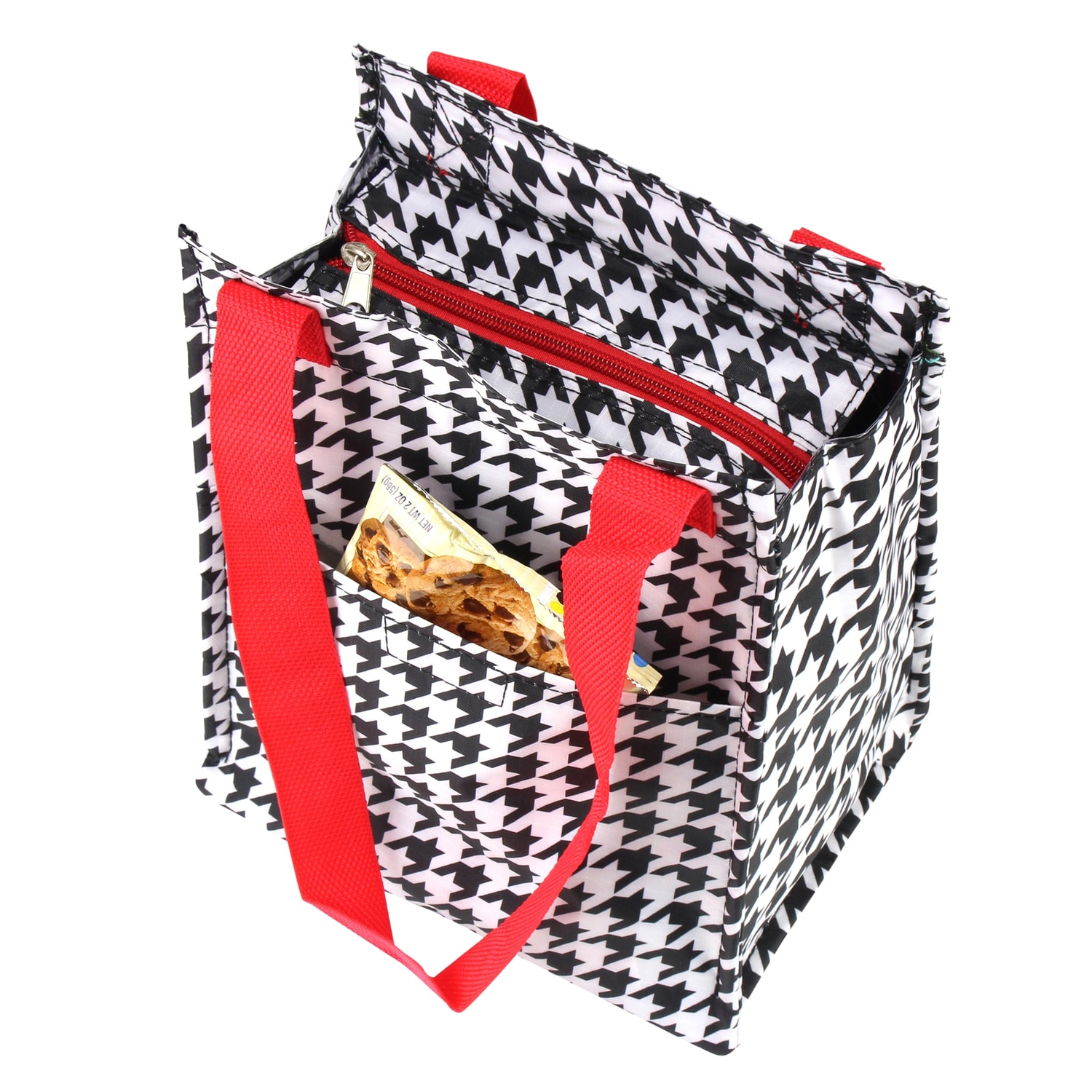 52a40b1d44 Shop Zodaca Red Houndstooth Insulated Lunch Bag Women Tote Cooler Picnic  Travel Food Box Zipper Carry Bags for Camping - Free Shipping On Orders  Over  45 ...