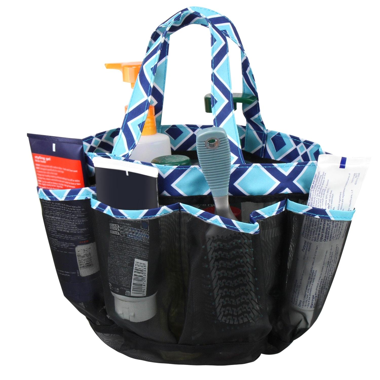 Shop Zodaca Navy/ Turquoise Lightweight Mesh Shower Caddie Bag Quick ...