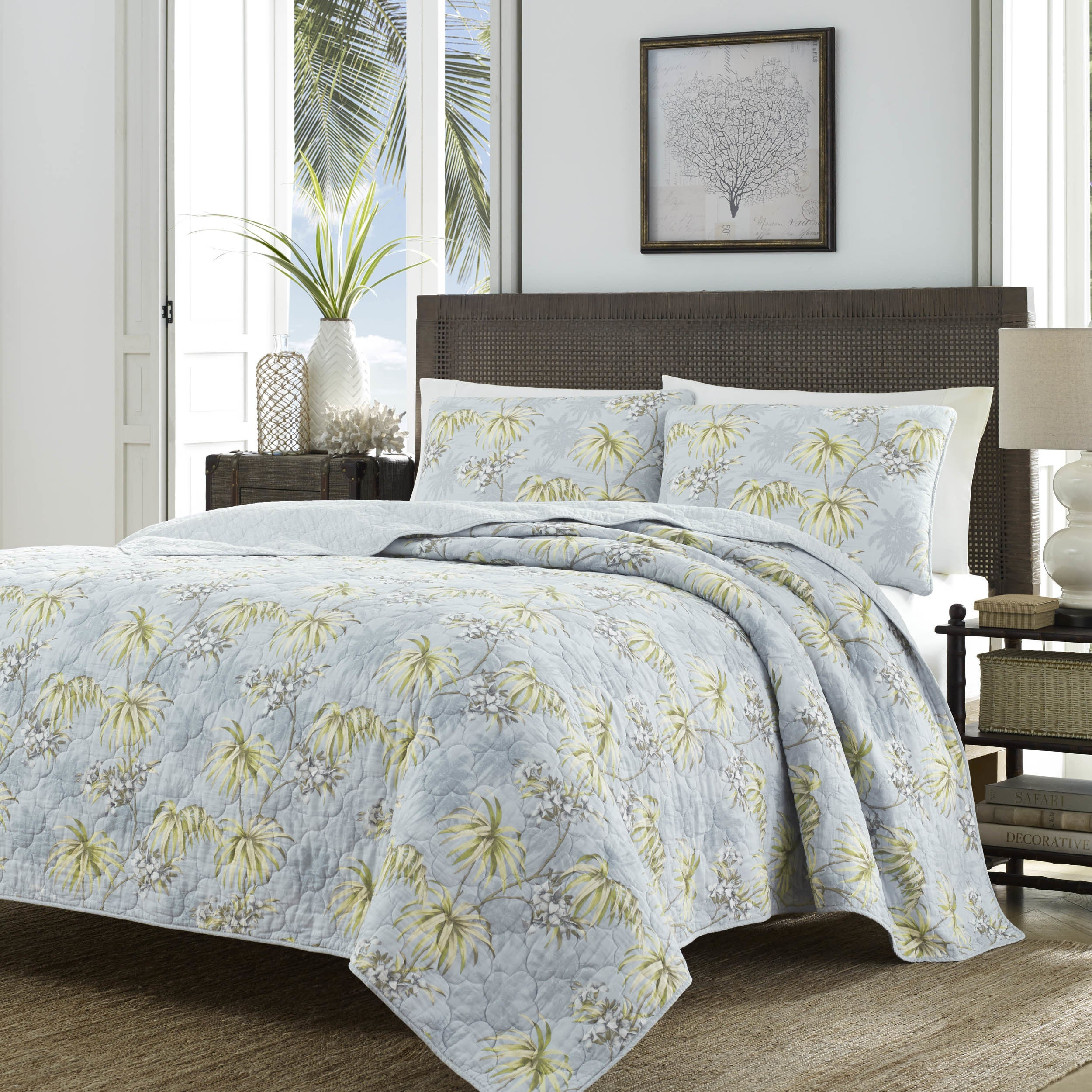 Shop Tommy Bahama Newport Silver Quilt Set - Free Shipping Today ...