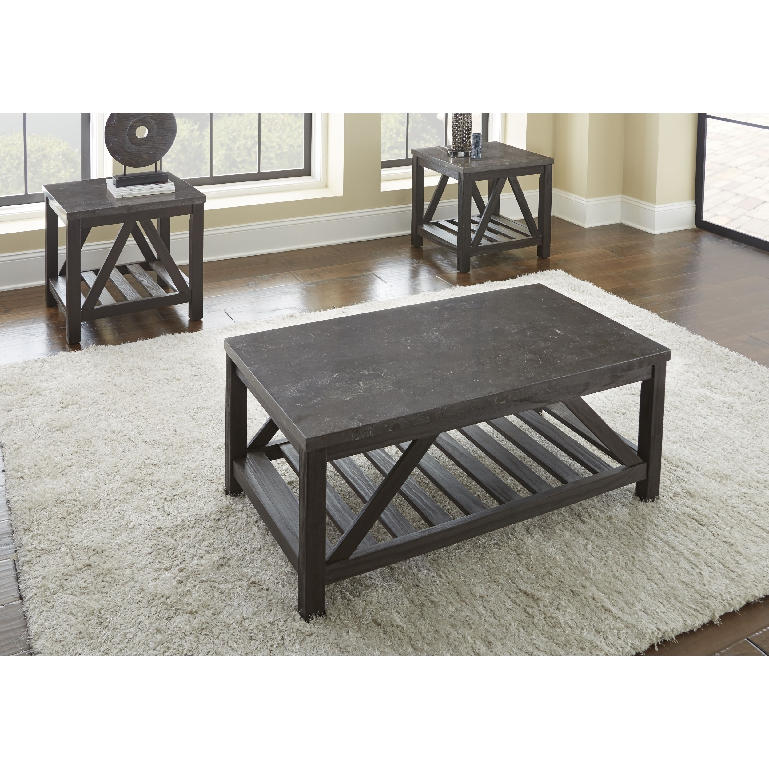 New Badin 48 Inch Rectangle Coffee Table With Bluestone Top By Greyson Living Free Shipping Today 17115995