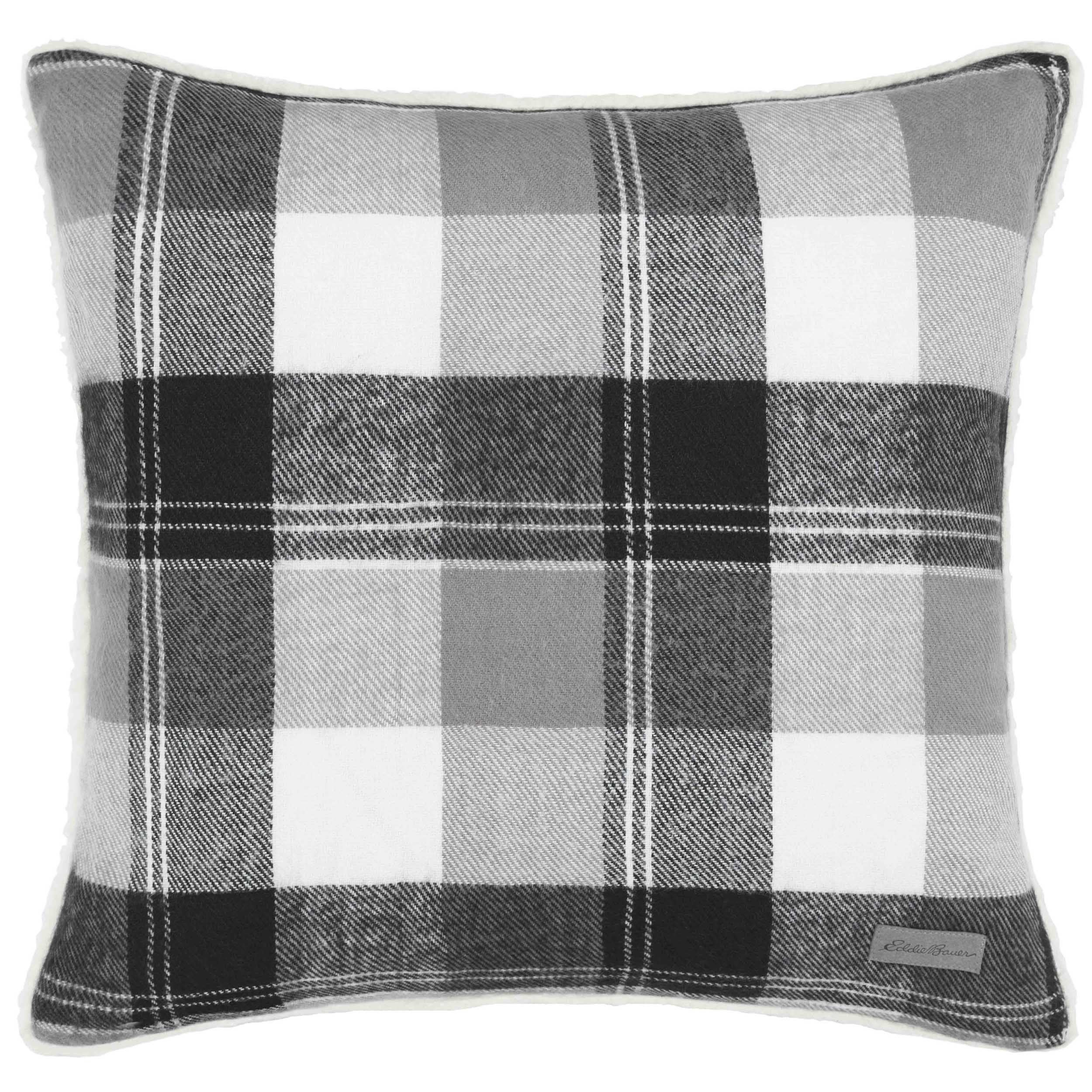 Eddie Bauer Lodge Grey Plaid Throw Pillow - Free Shipping On ...