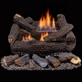 Duluth Forge Ventless Natural Gas Log Set - 18 in. Stacked Red Oak - Manual Control