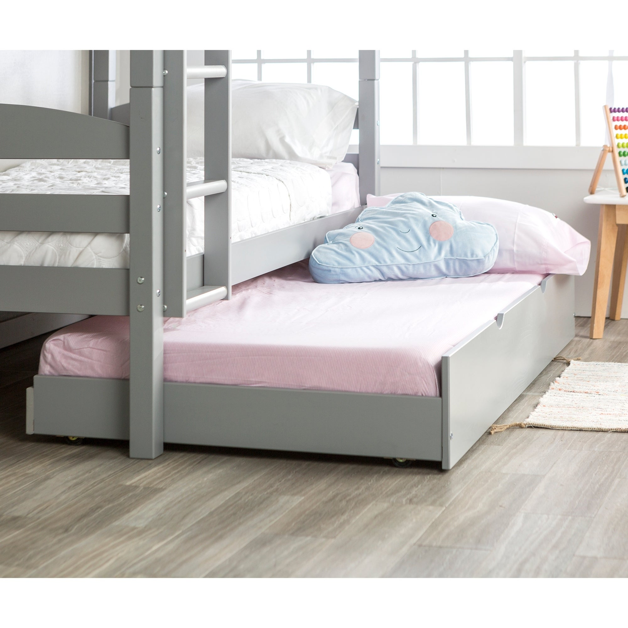 Shop Wood Roll Out Twin Trundle Bed Frame On Sale Free Shipping