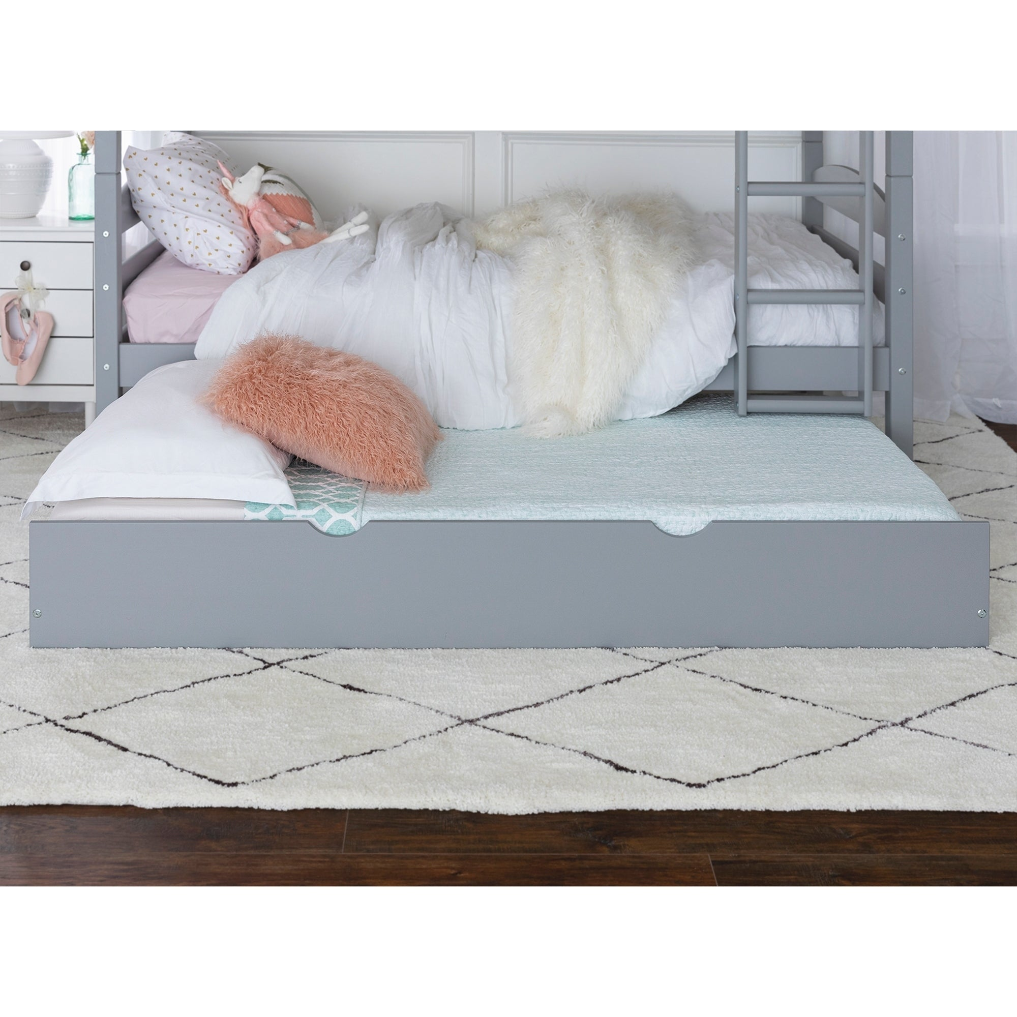 Trundle Bed.Taylor Olive Christian Wood Roll Out Twin Trundle Bed Frame