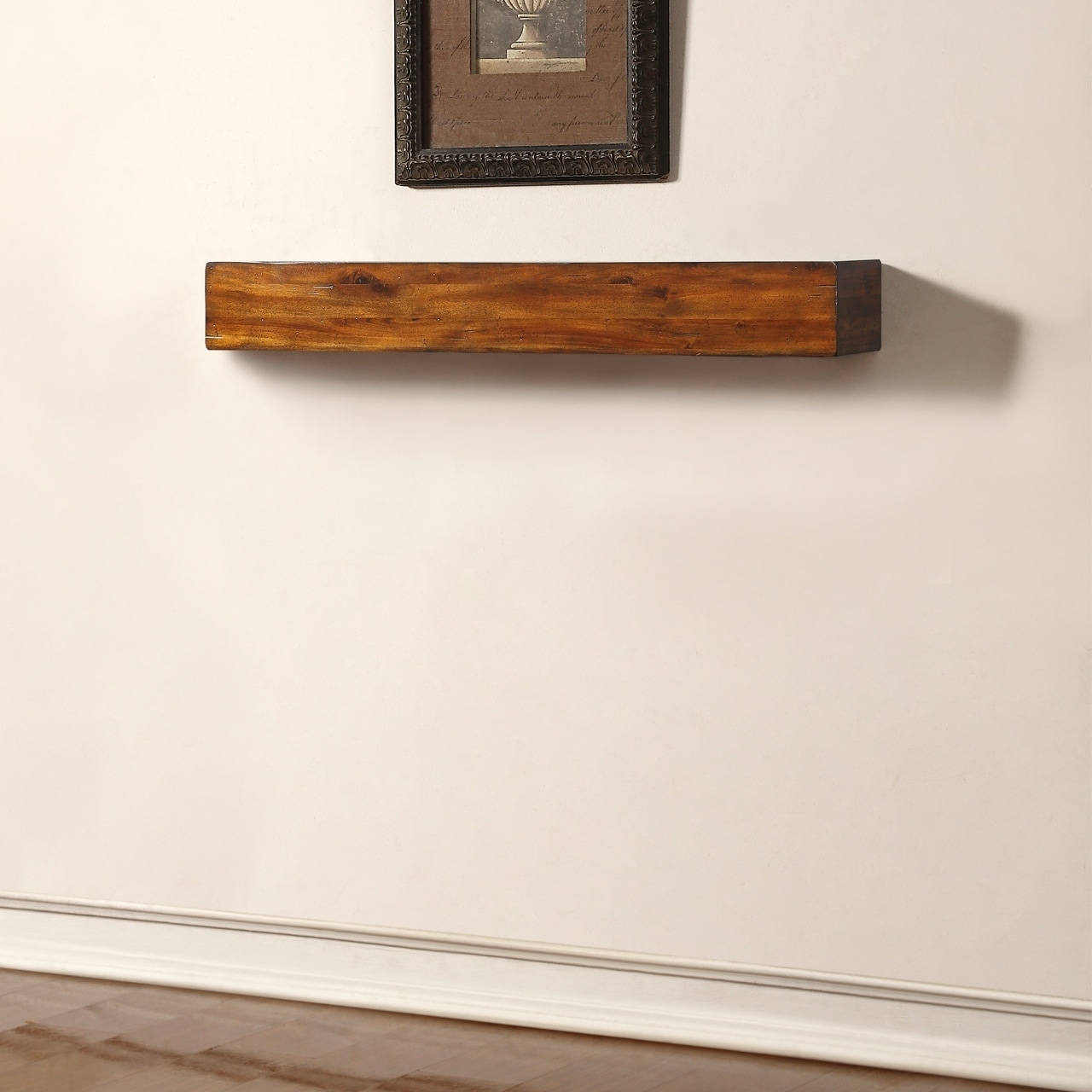 Shop Duluth Forge 48 Inch Fireplace Shelf Mantel With Corbels