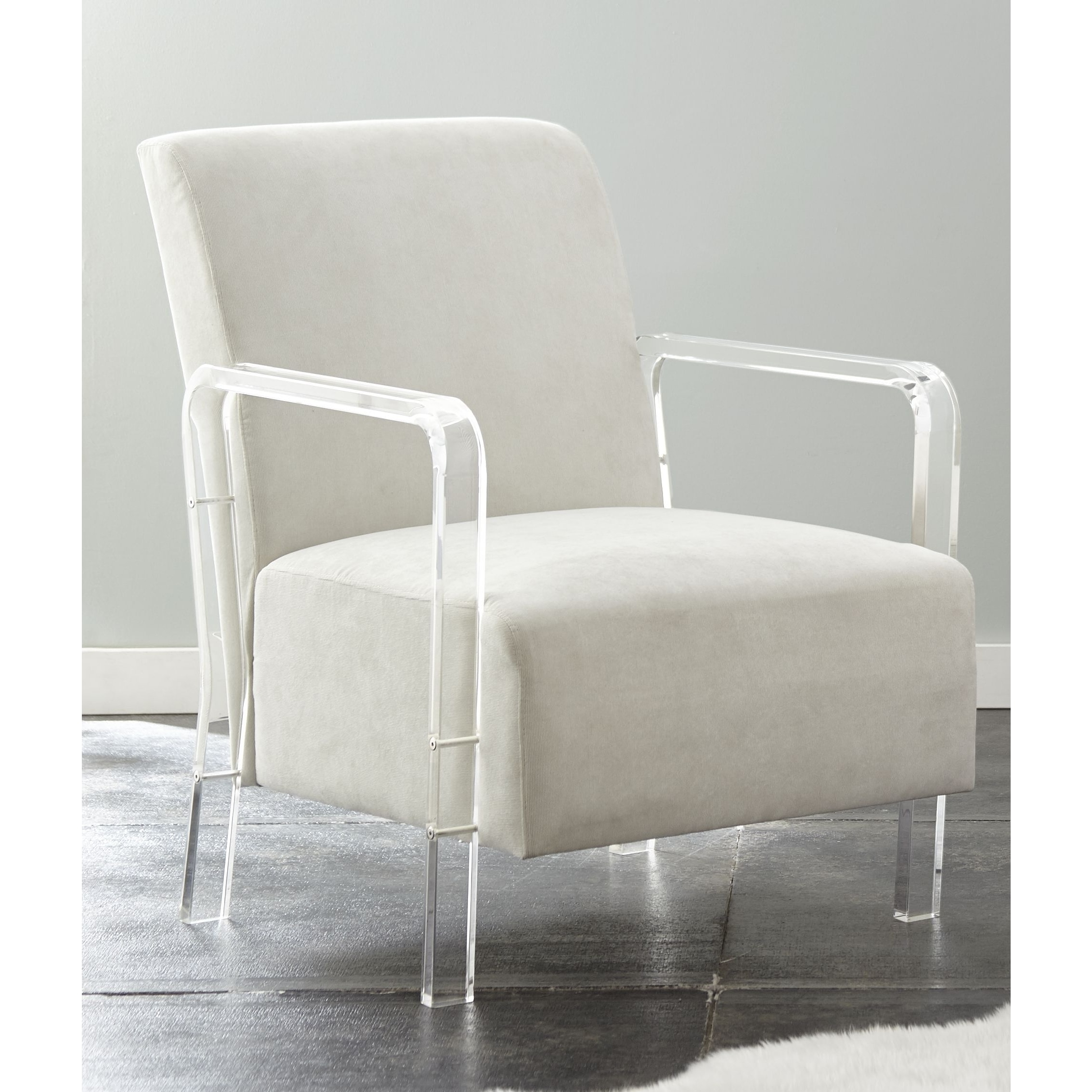 Charmant Shop Truitt Acrylic And Microfiber Arm Chair By Greyson Living   On Sale    Free Shipping Today   Overstock.com   17116804