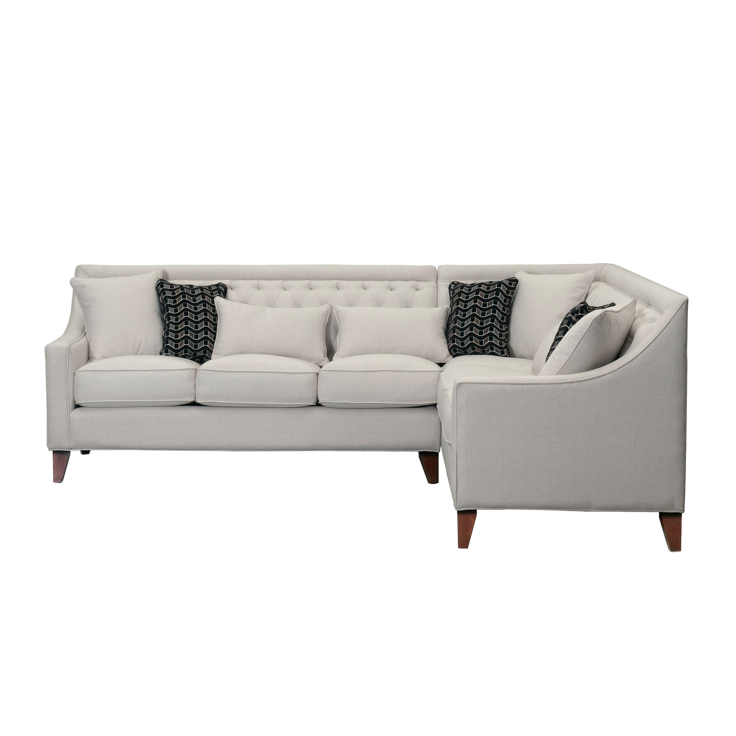 chic home fulla linen tufted back rest modern contemporary right