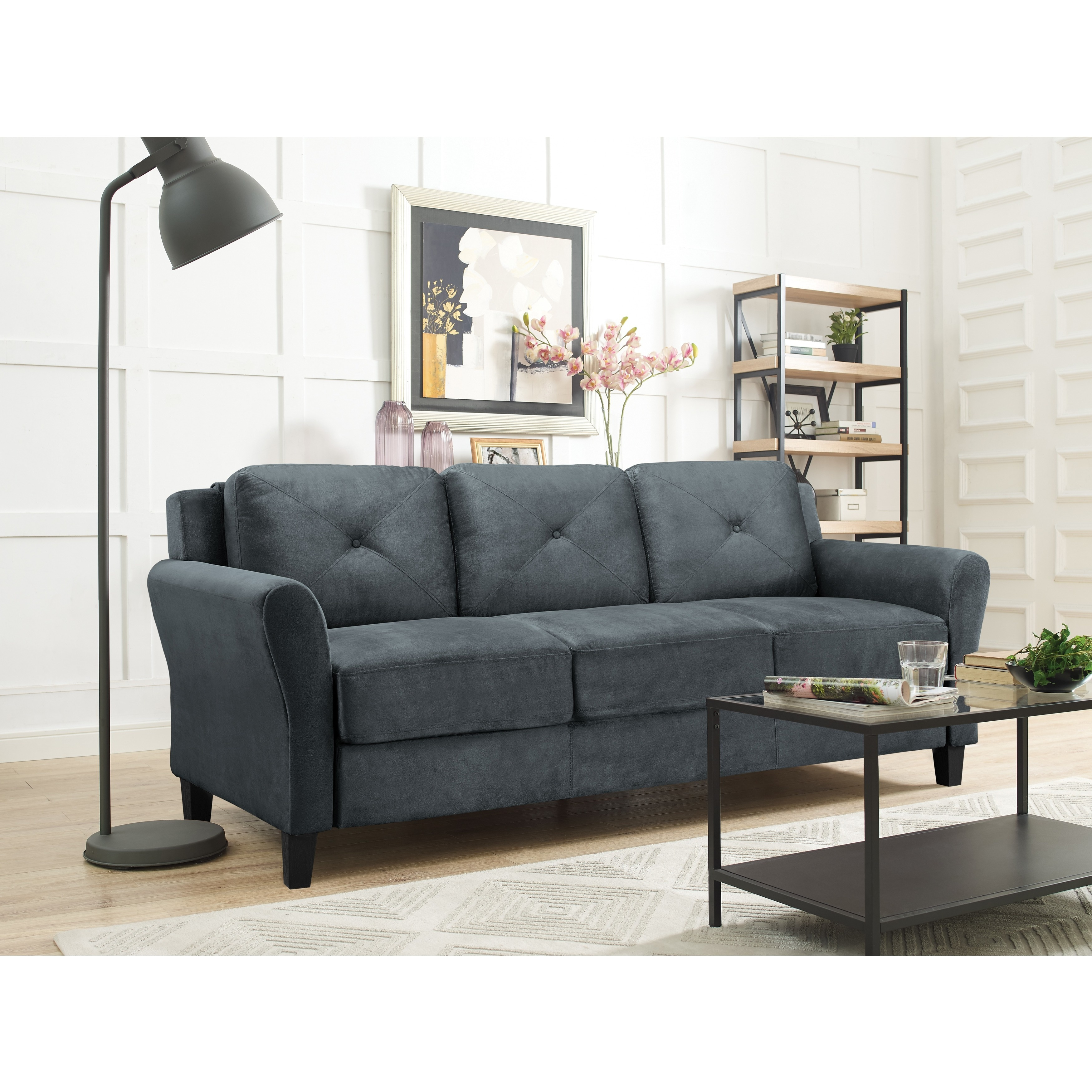 Shop Lifestyle Solutions Harvard Microfiber Sofa   Free Shipping Today    Overstock.com   17126311