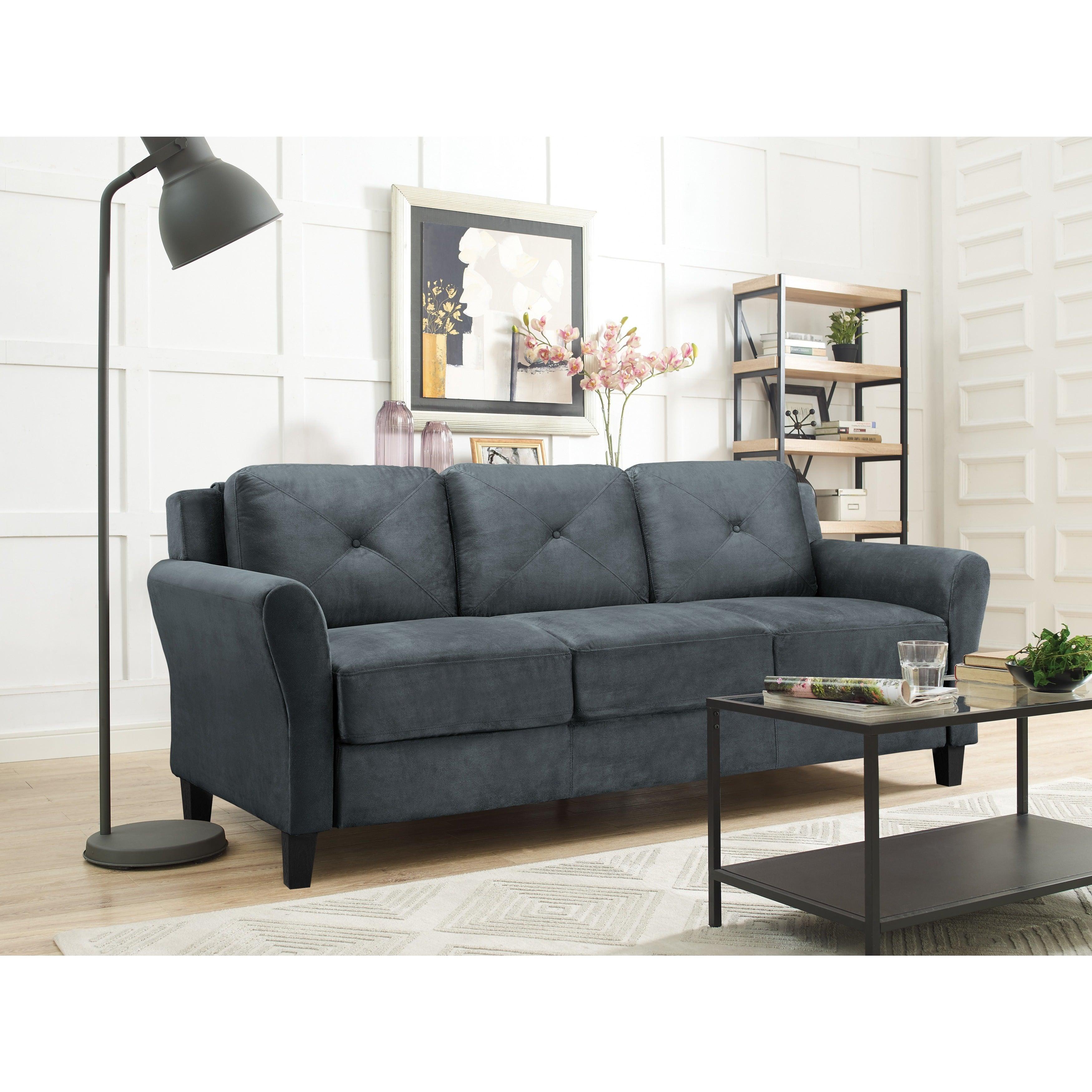 sofa details room furniture itm convertible guest seat love bed microfiber living sleeper