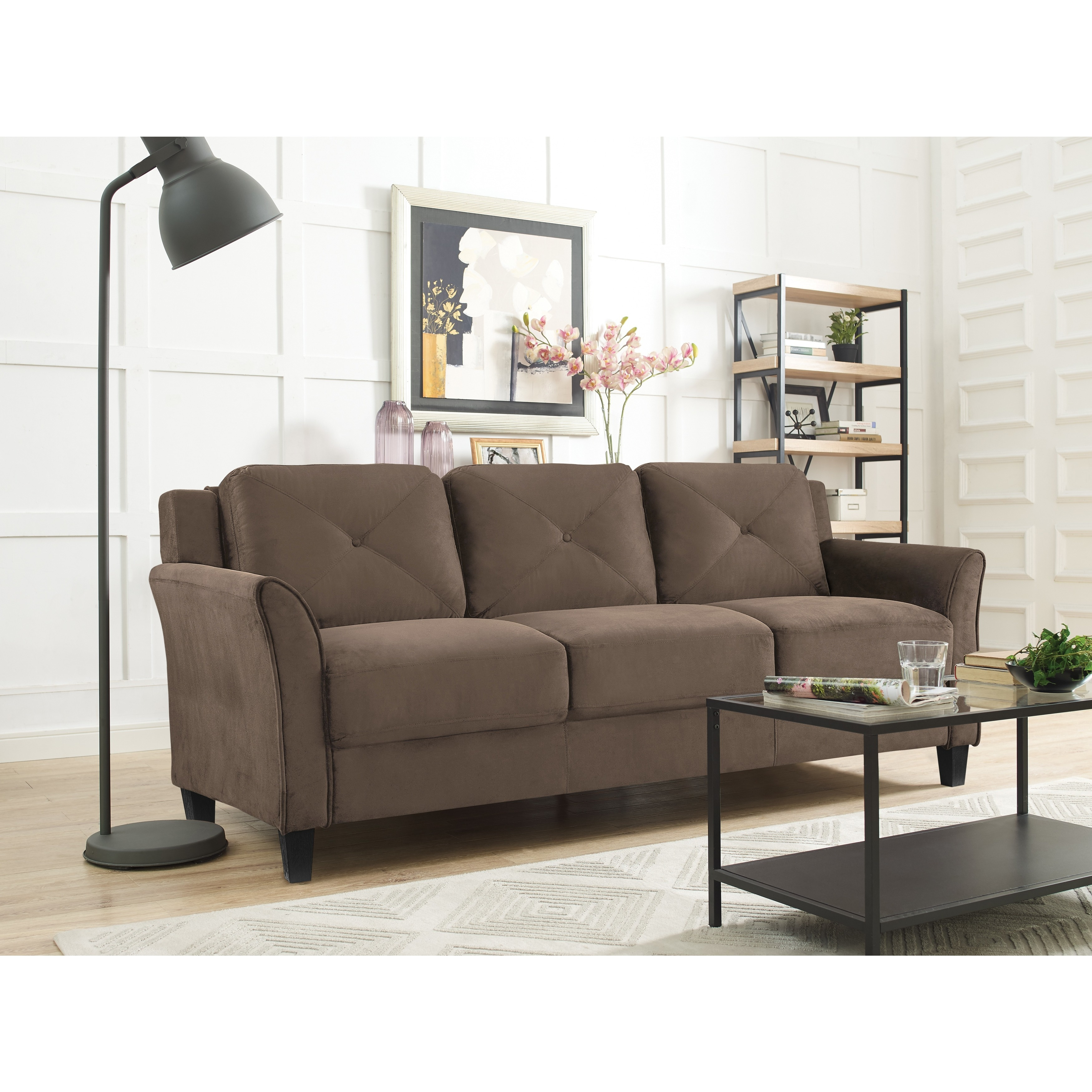 Lifestyle Solutions Harvard Microfiber Sofa On Free Shipping Today 17126311