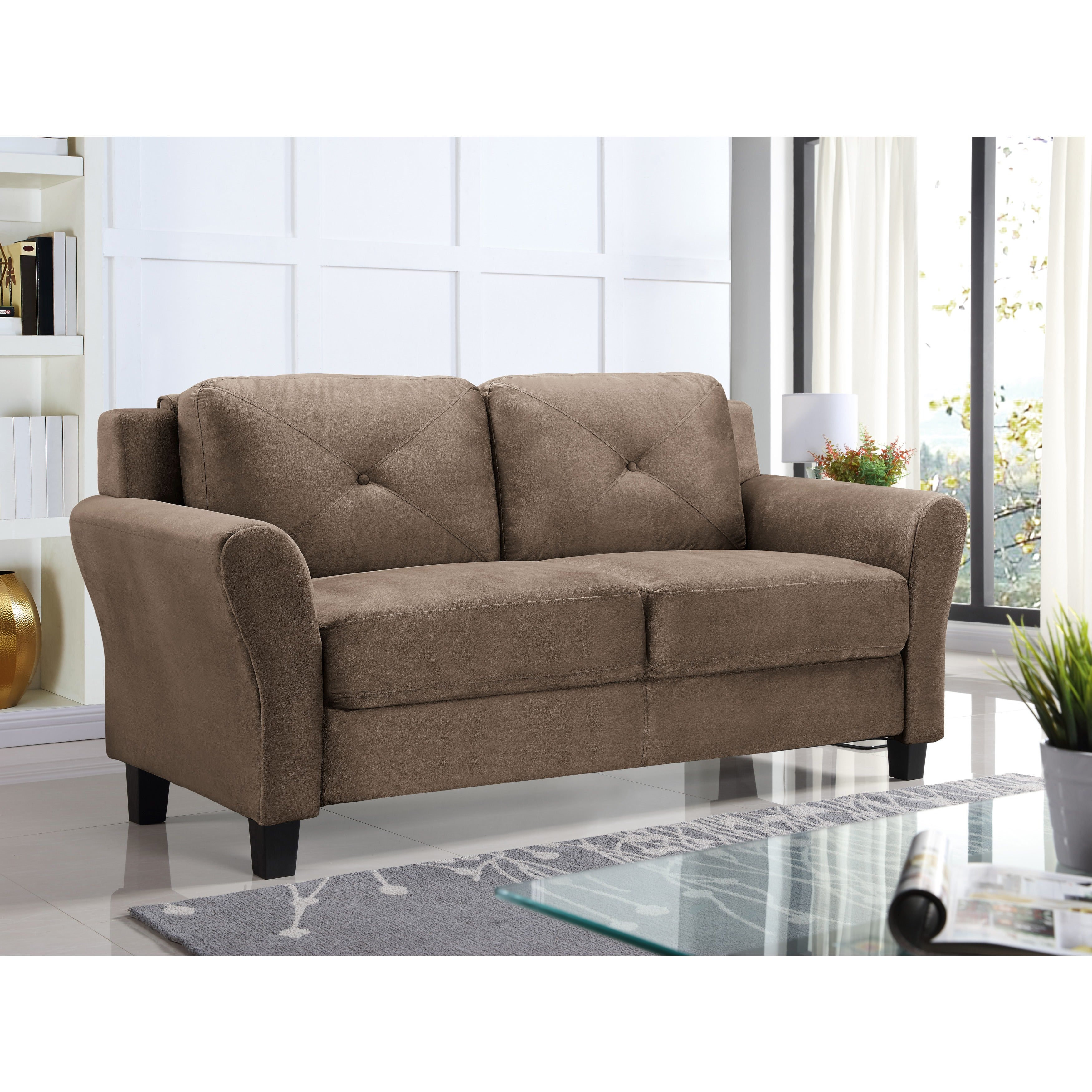 with item content height craftmaster threshold traditional wood trim legs turned products loveseat width
